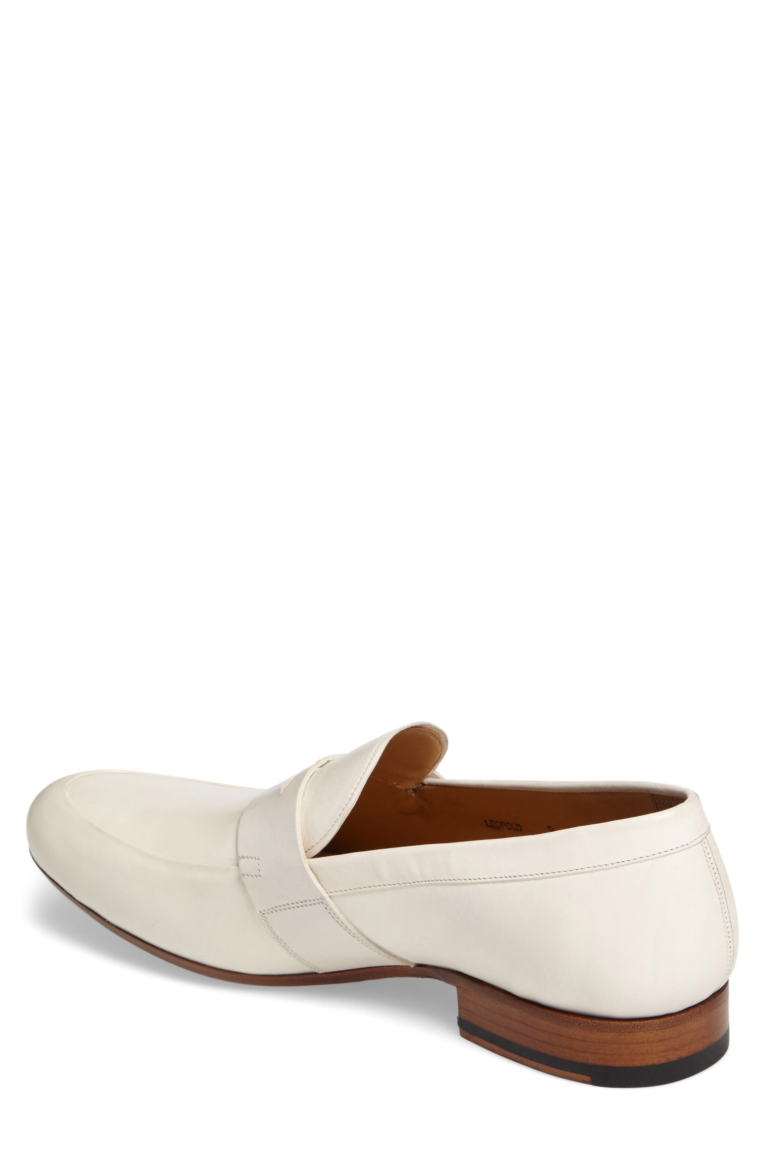 Leopold Penny Loafer,                             Alternate thumbnail 2, color,                             Bone Leather