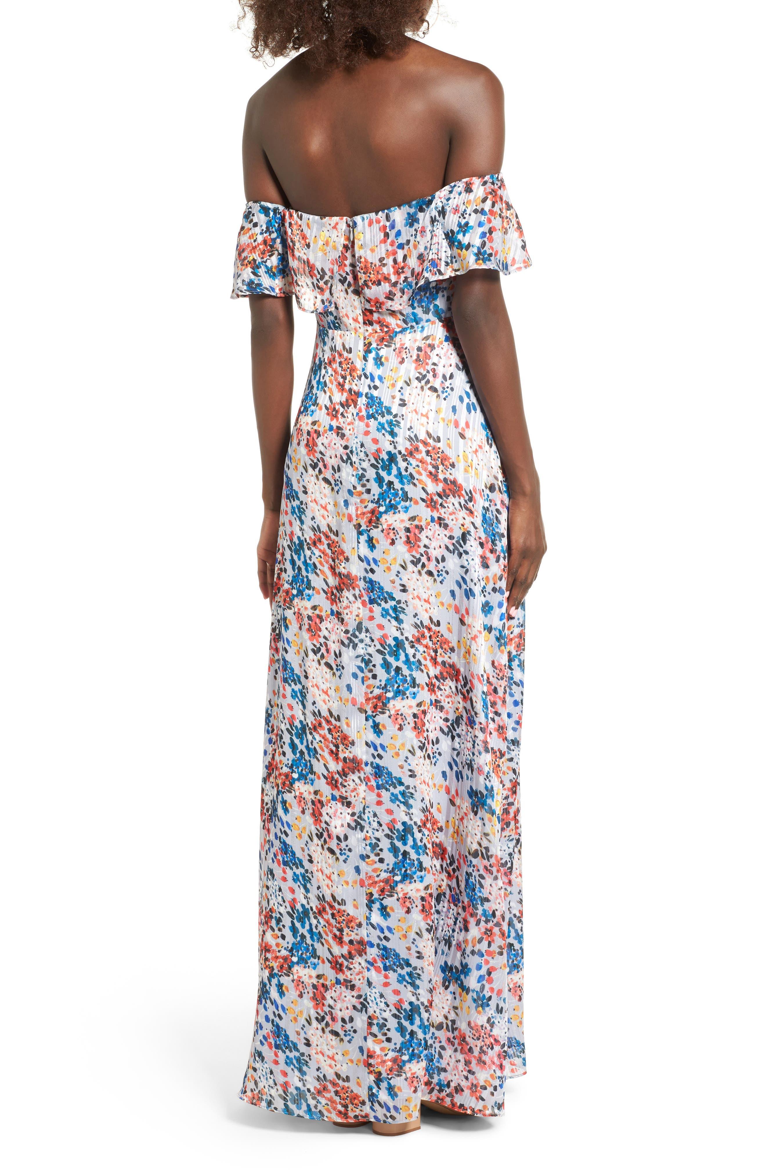 Alternate Image 3  - devlin Beth Off the Shoulder Maxi Dress