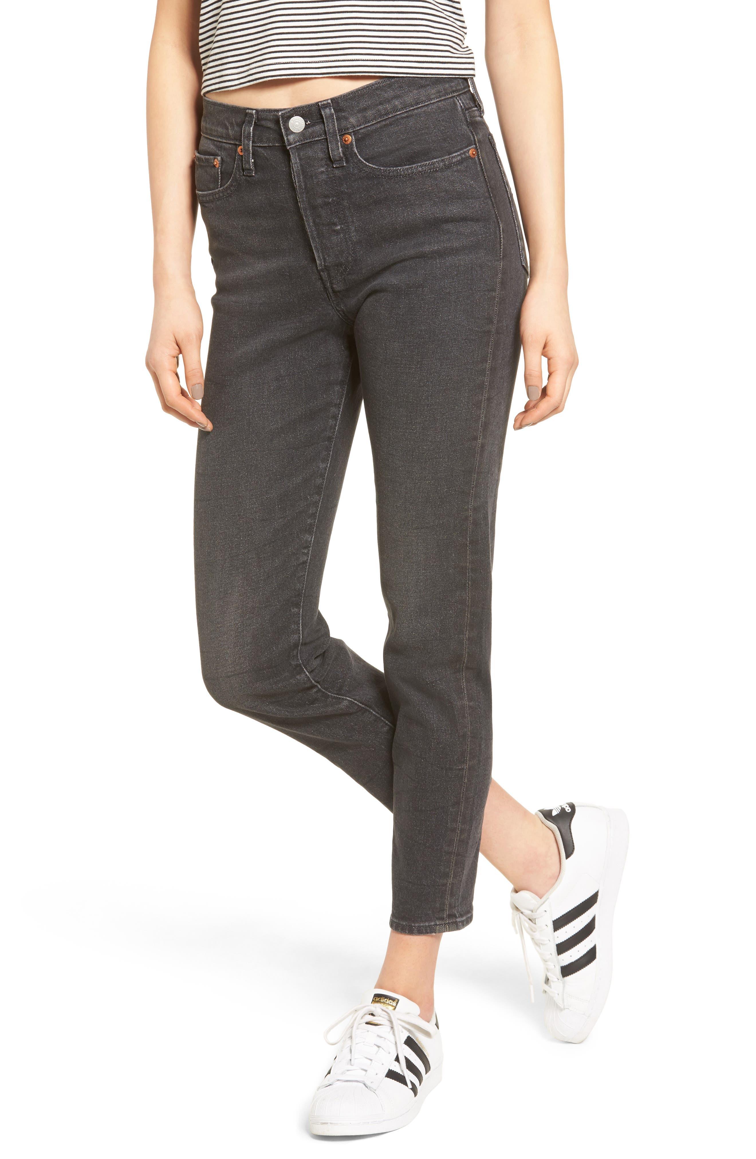 Wedgie Icon Fit High Waist Crop Jeans,                         Main,                         color, Deedee