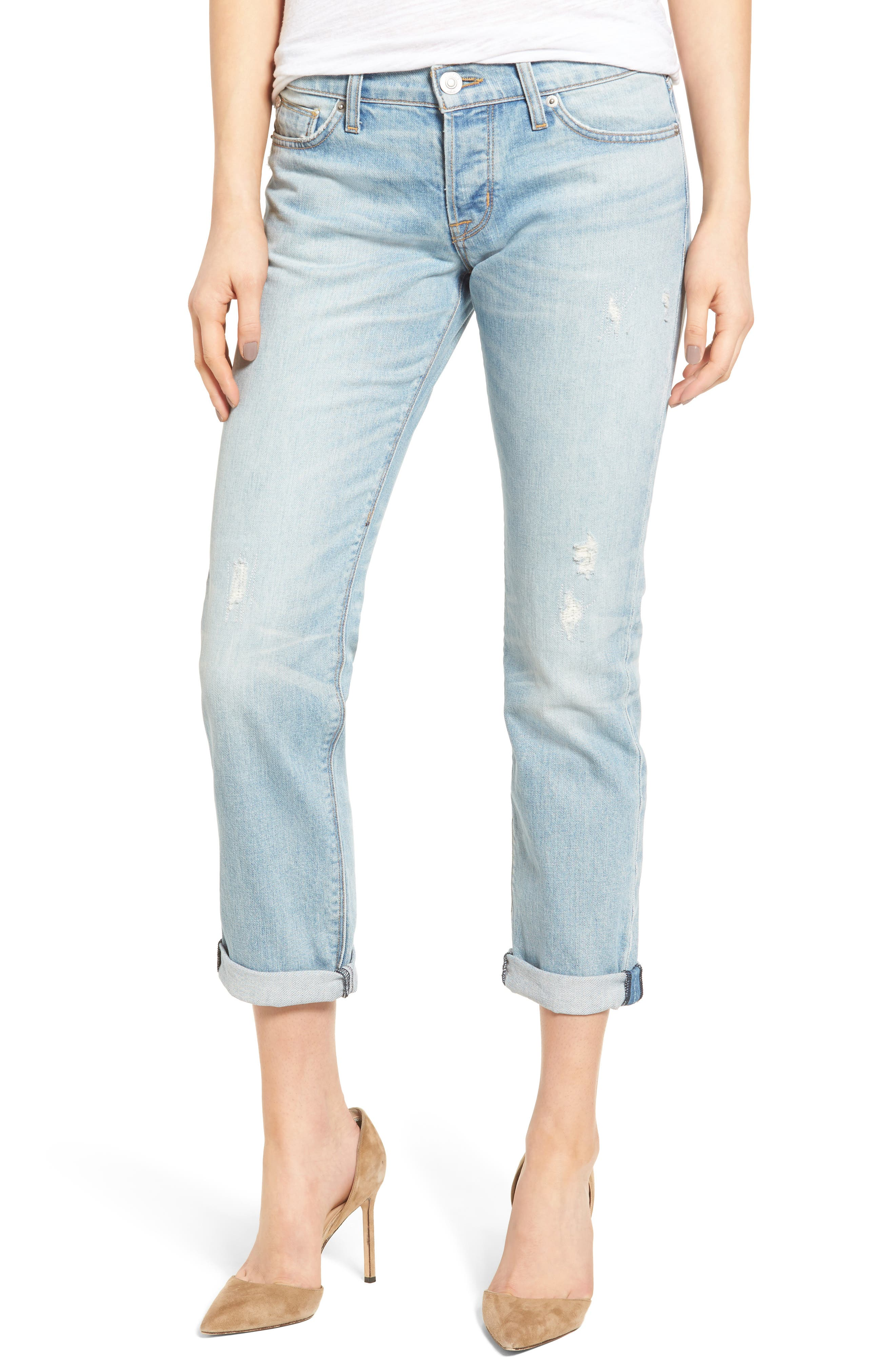Alternate Image 1 Selected - Hudson Jeans Riley Crop Relaxed Straight Leg Jeans