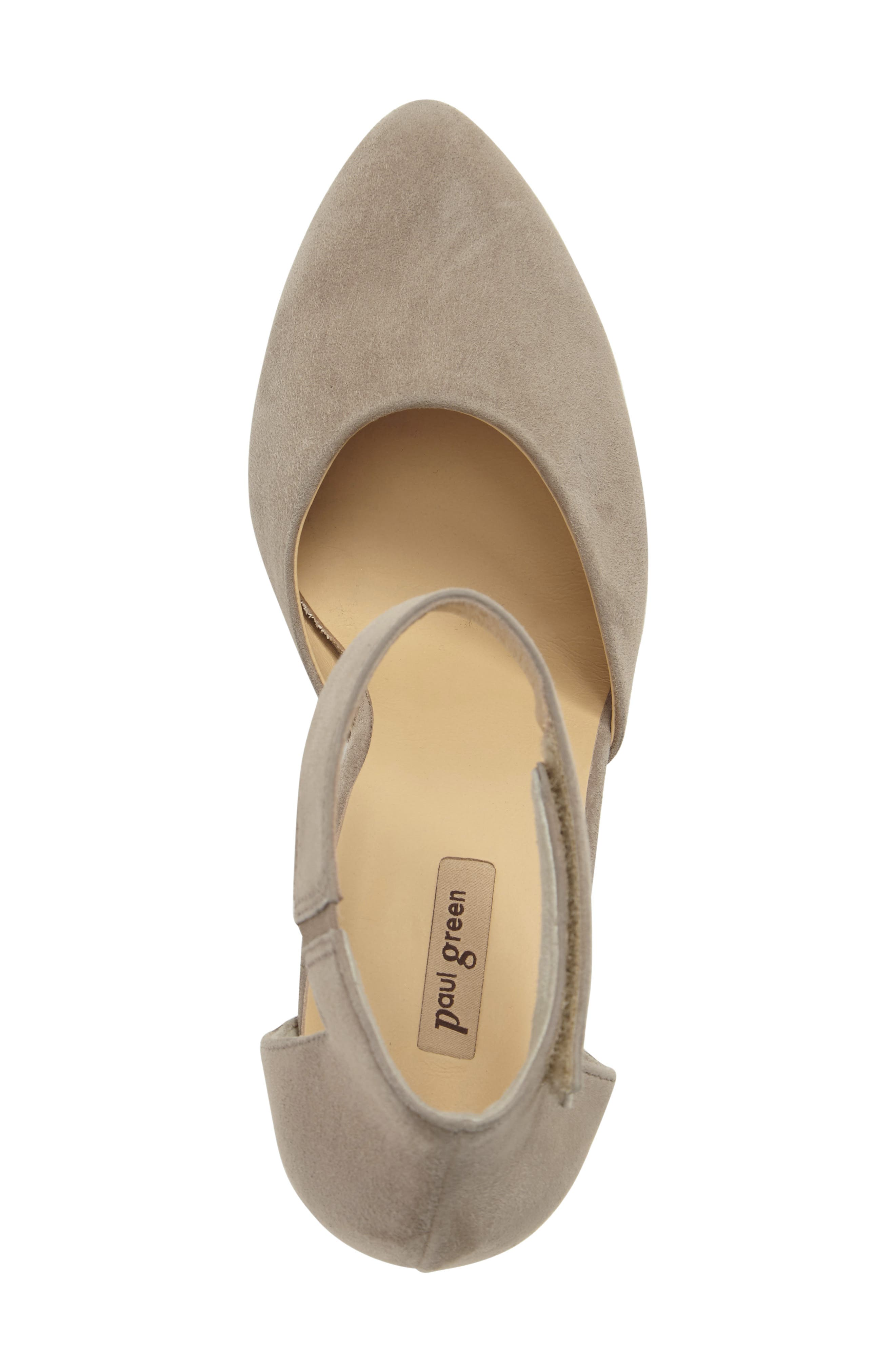 Noreen Pump,                             Alternate thumbnail 5, color,                             Taupe Suede
