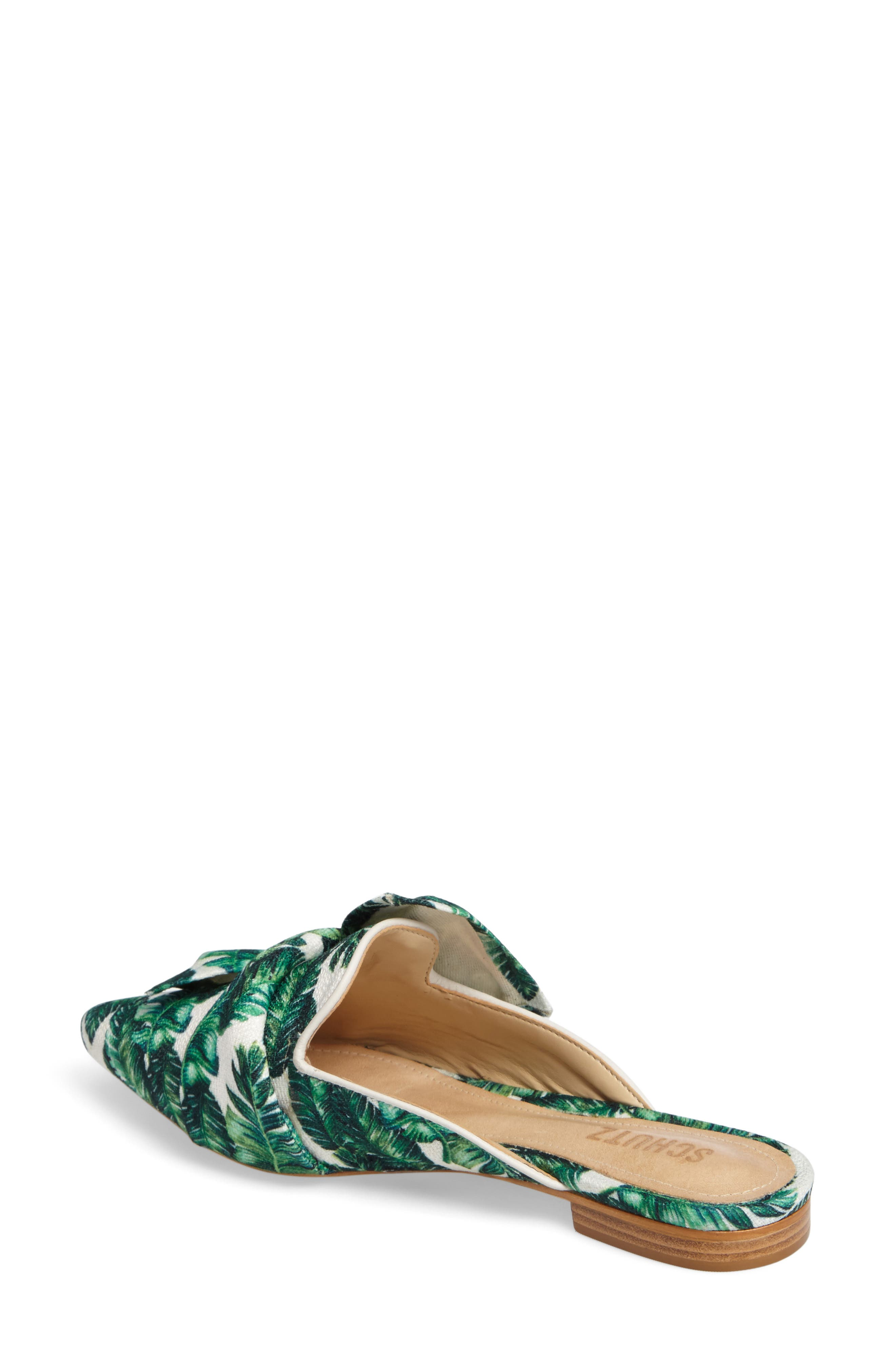 D'Ana Knotted Loafer Mule,                             Alternate thumbnail 2, color,                             White