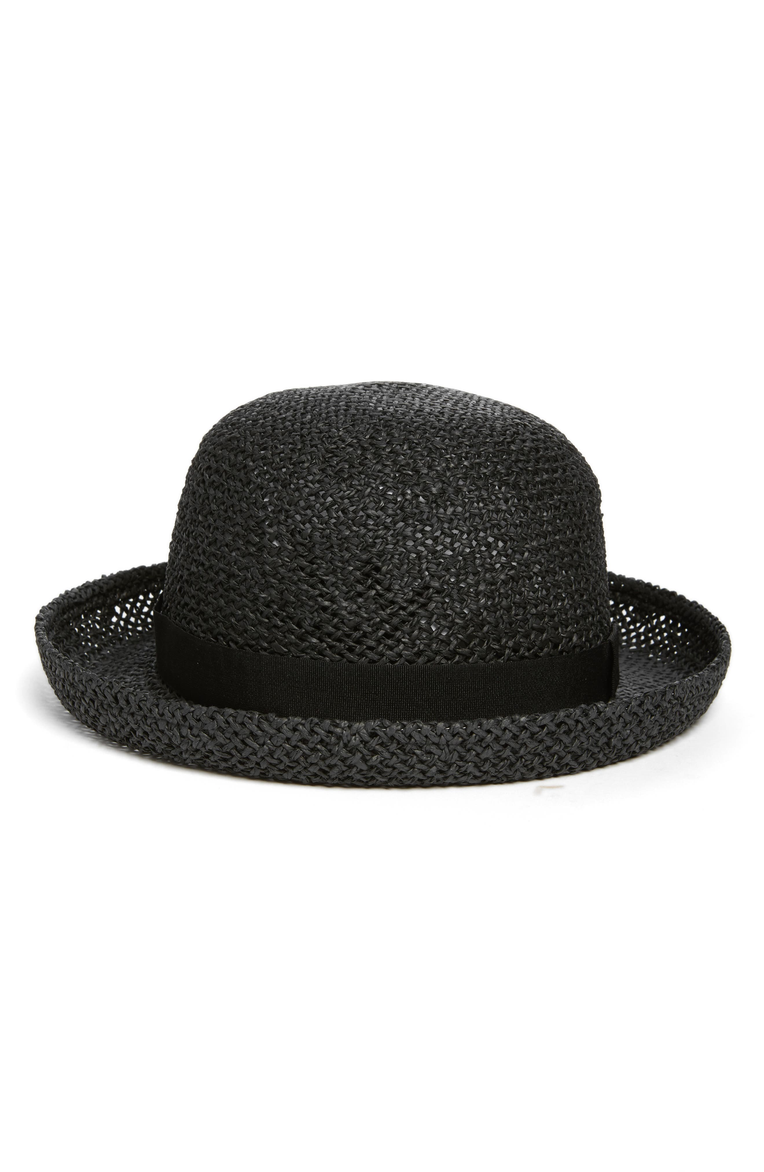 Hinge Straw Bowler Hat