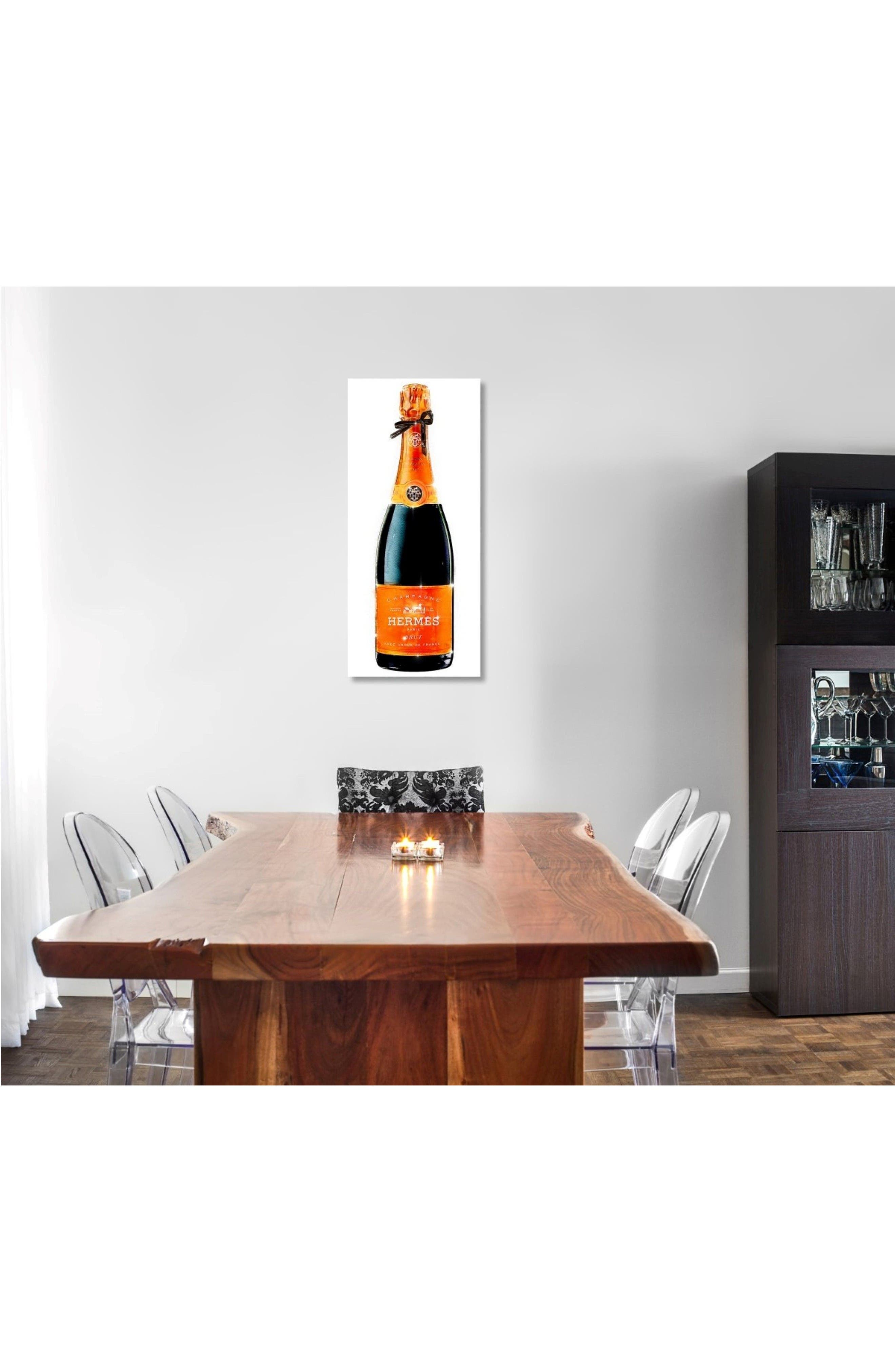 Parisian Luxe Champagne Canvas Art Print,                             Alternate thumbnail 2, color,                             White
