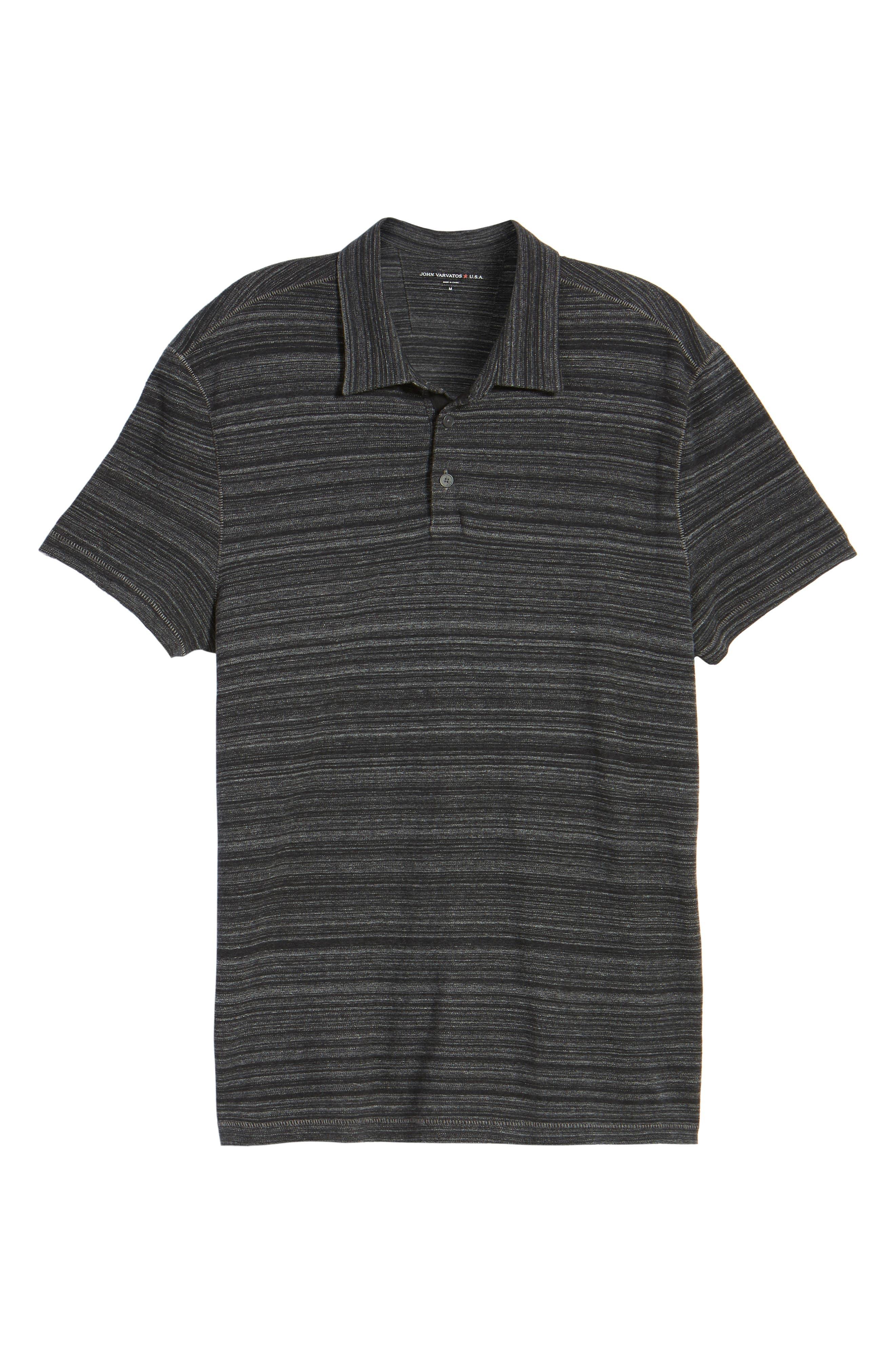 Cotton Polo,                             Alternate thumbnail 5, color,                             Black