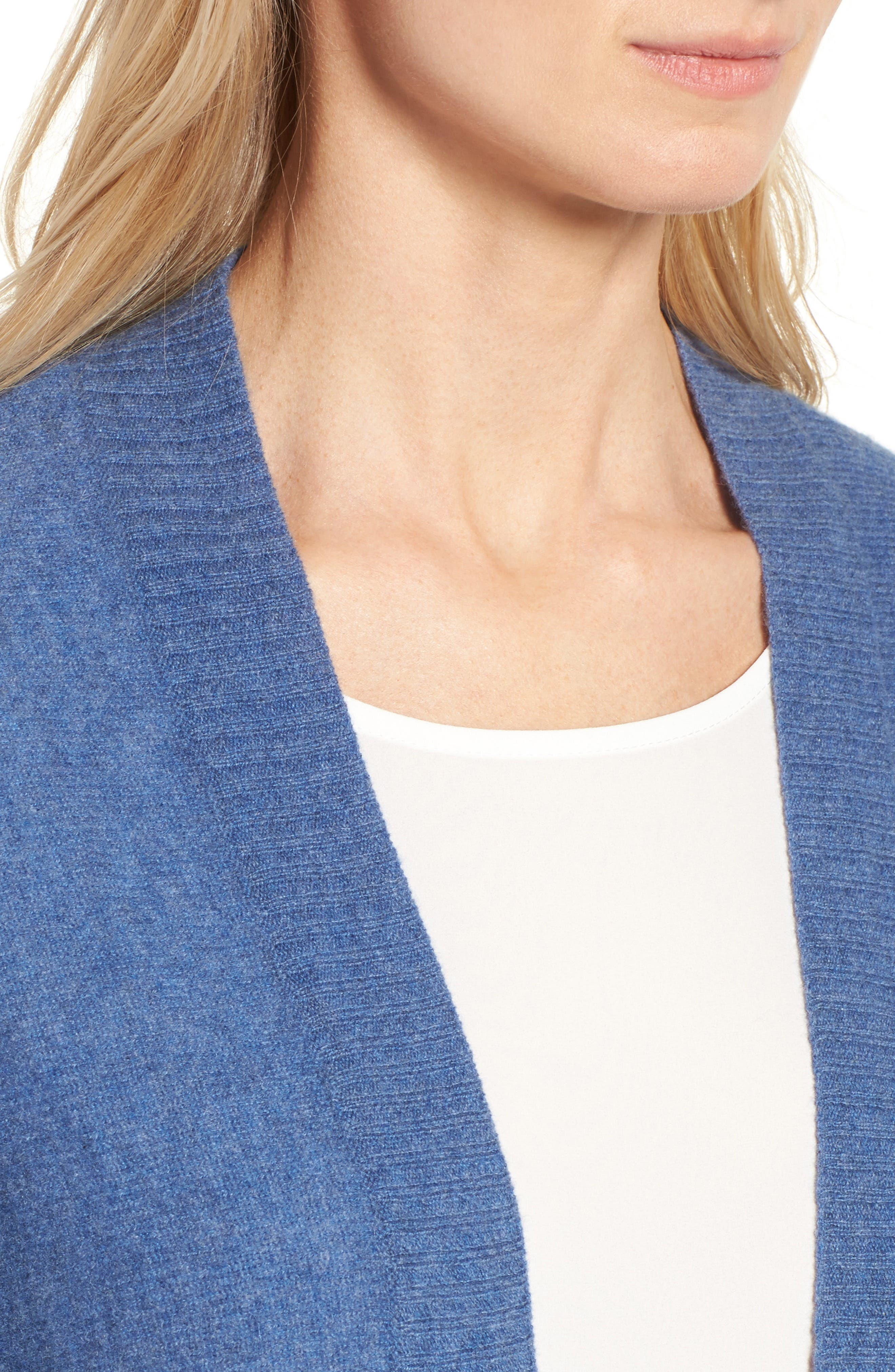 Alternate Image 4  - Halogen® Three-Quarter Sleeve Cashmere Cardigan