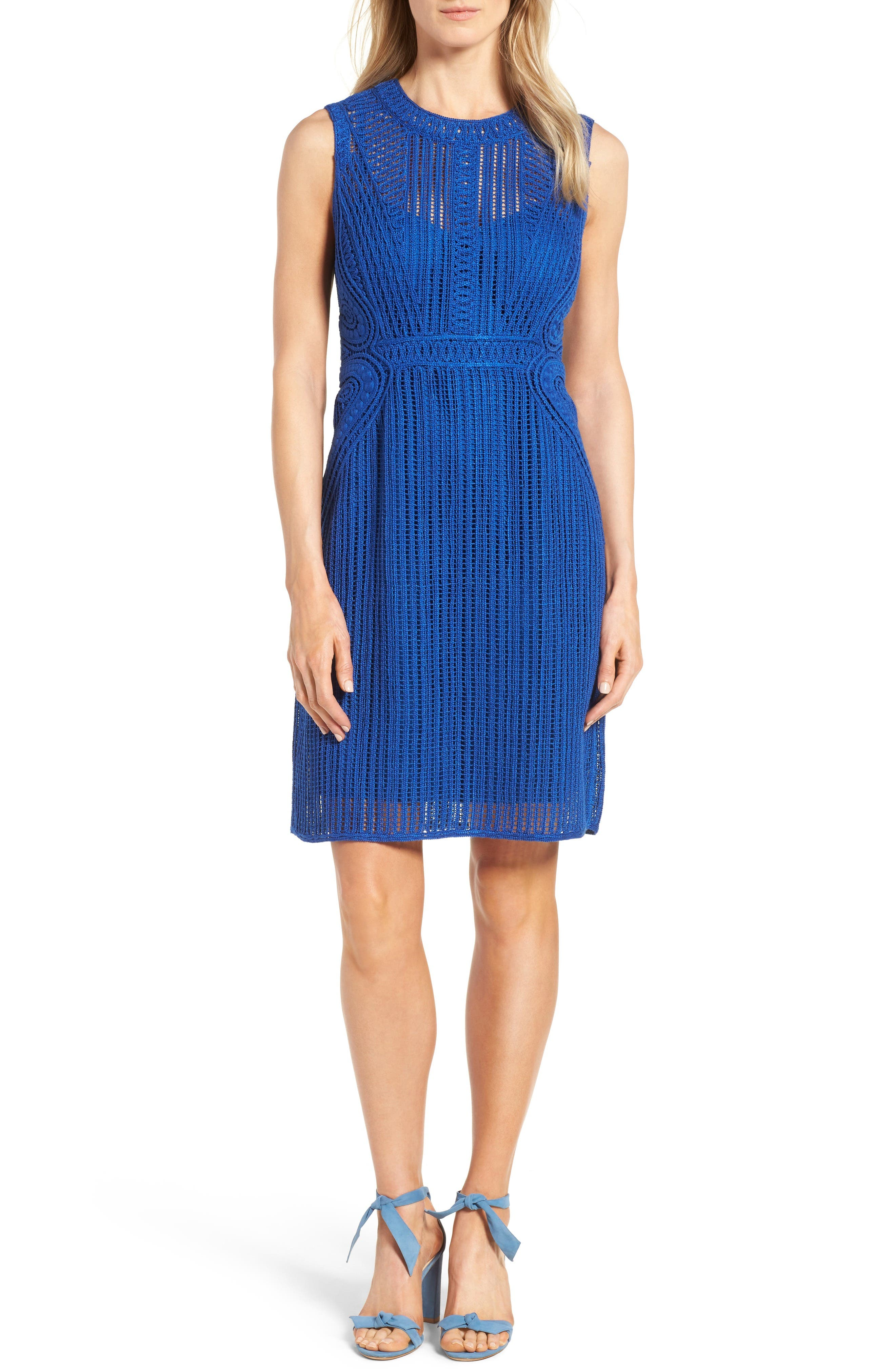 Kobi Halperin Jayden Cotton Lace Sheath Dress