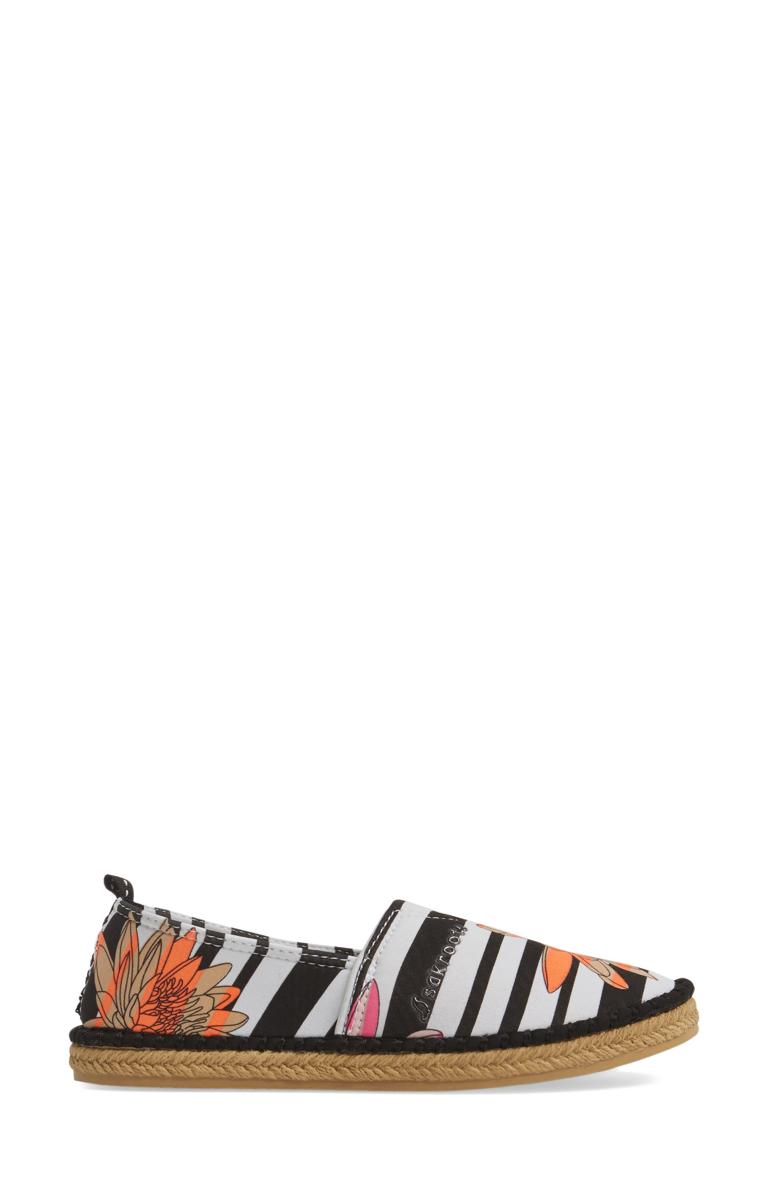 Eton Espadrille Flat,                             Alternate thumbnail 3, color,                             Neon Xen Flower Fabric