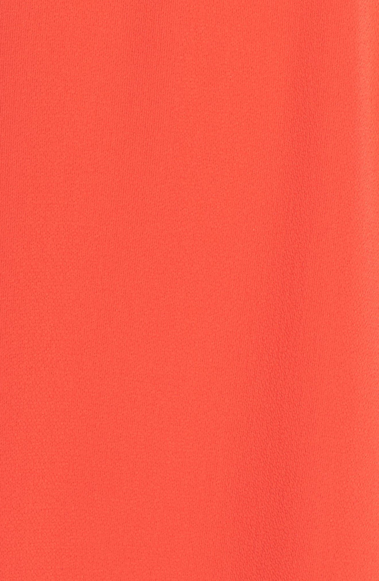 Ruffle Fit & Flare Dress,                             Alternate thumbnail 6, color,                             Raspberry