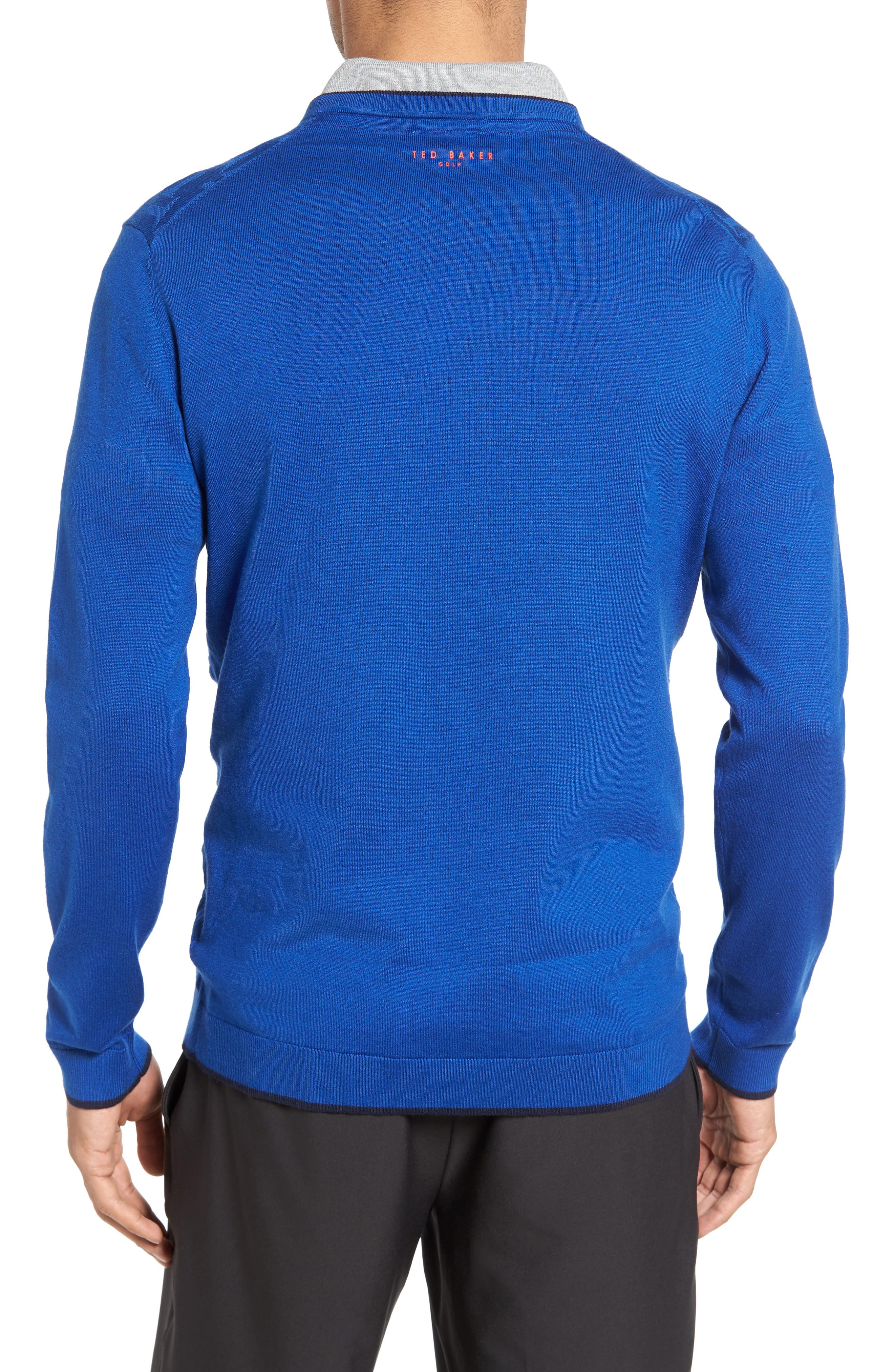 Armstro Tipped Golf Tee Sweater,                             Alternate thumbnail 2, color,                             Blue