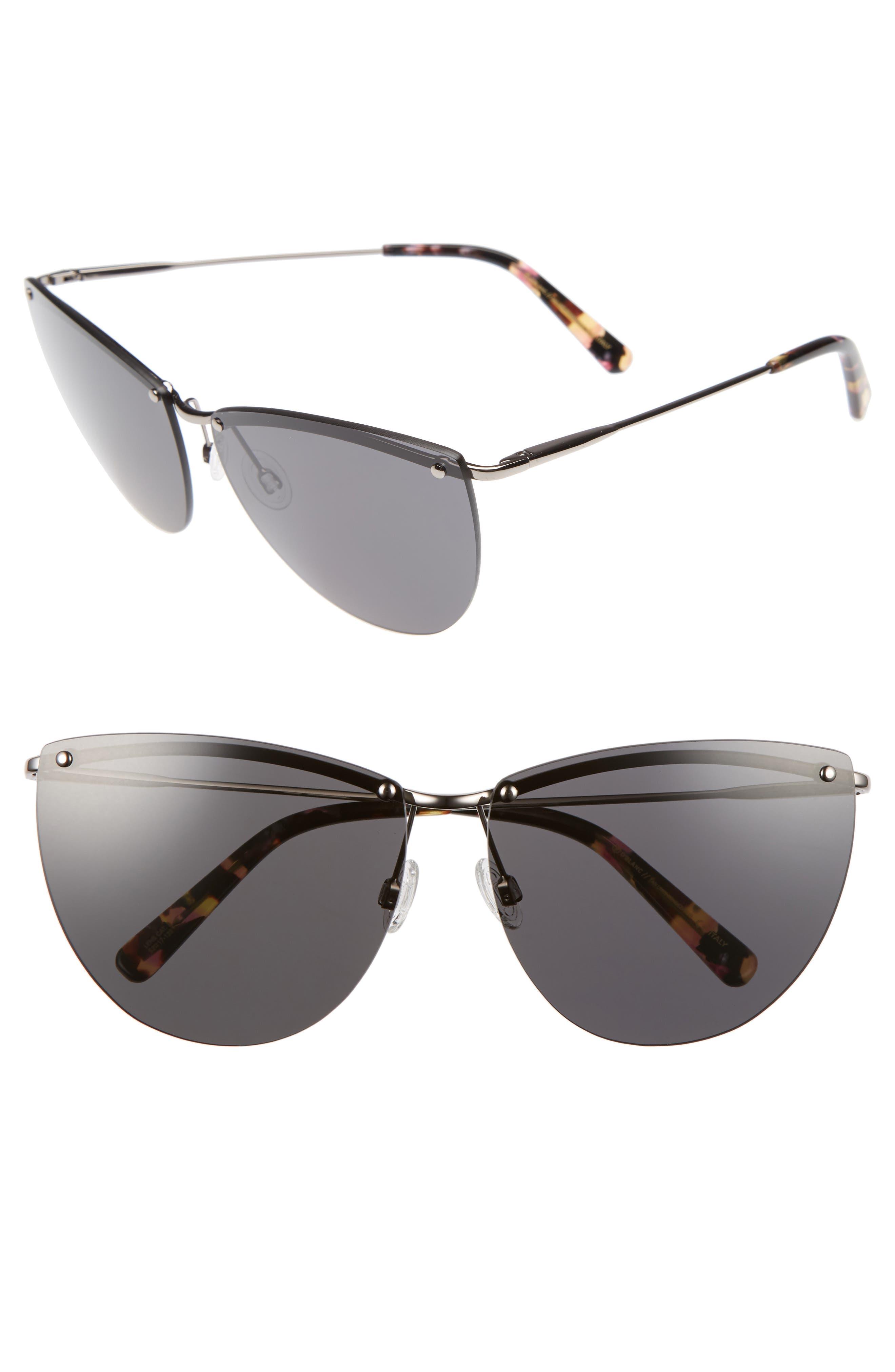 DBLANC DBLANC Tan Lines Rendezvous 61mm Cat Eye Sunglasses