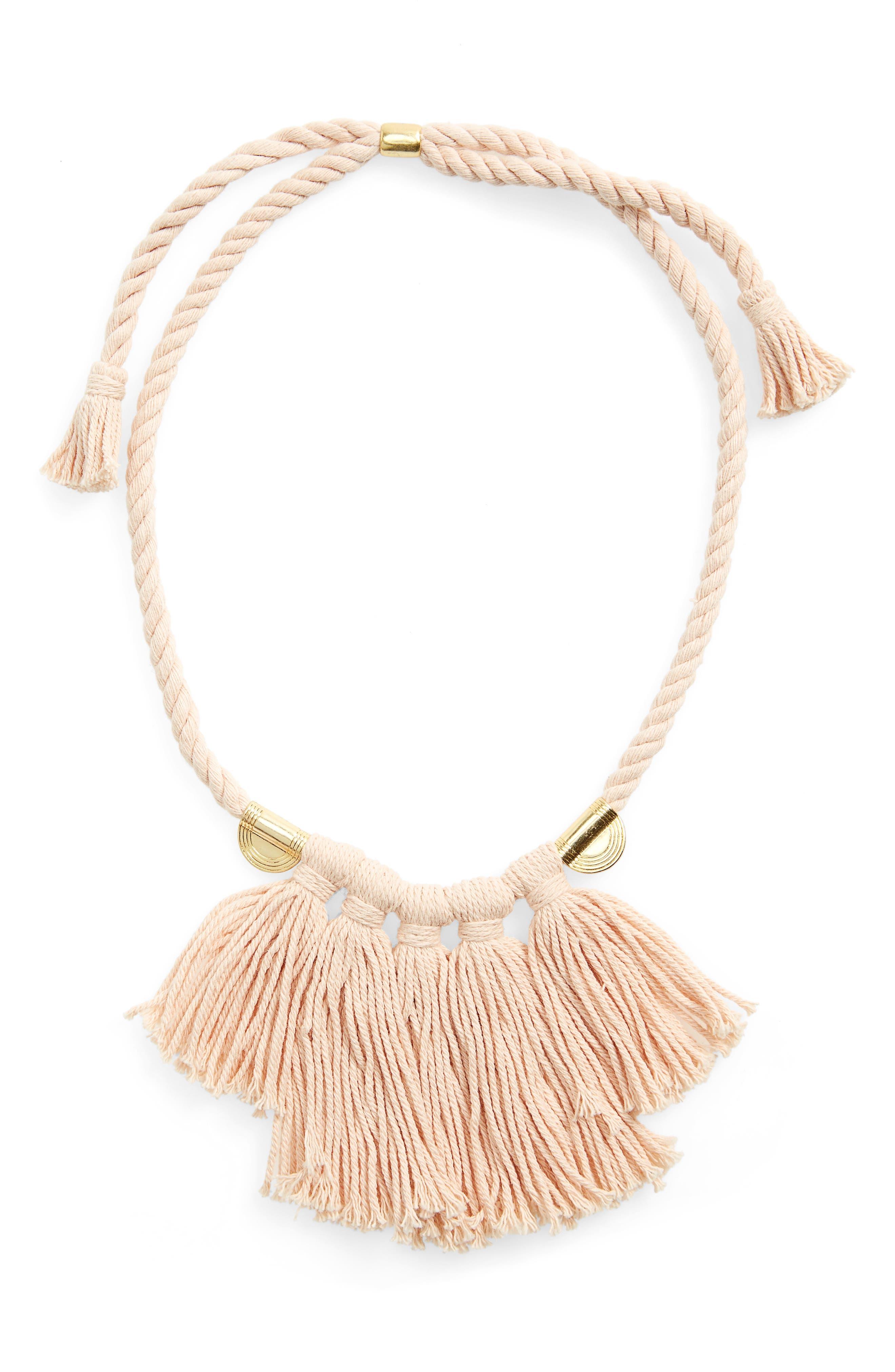 Main Image - Madewell Tassel Statement Necklace