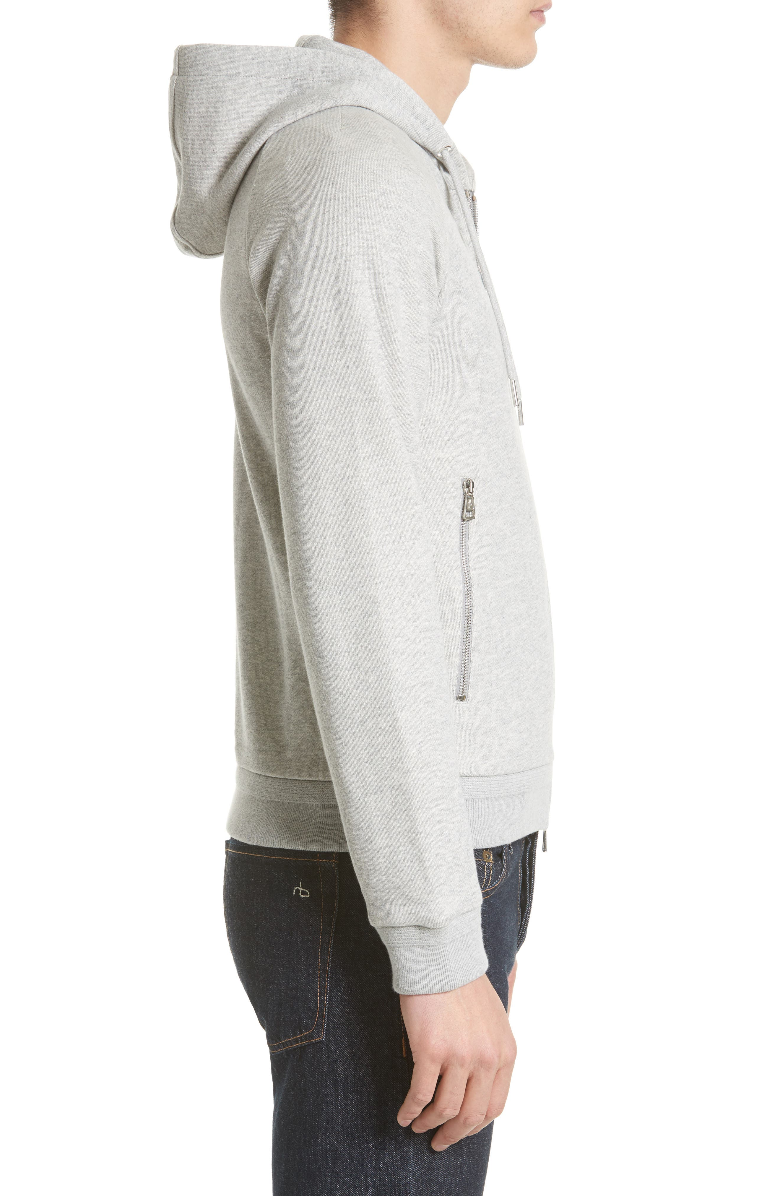 Three Bells Hoodie,                             Alternate thumbnail 3, color,                             Dark Grey