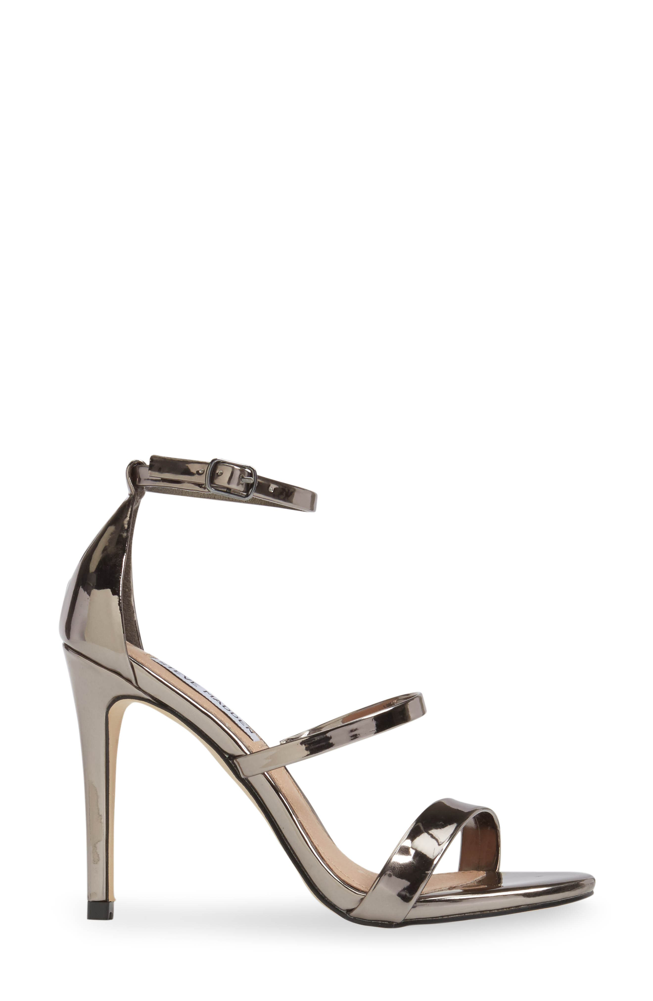 Sheena Strappy Sandal,                             Alternate thumbnail 3, color,                             Pewter Faux Leather