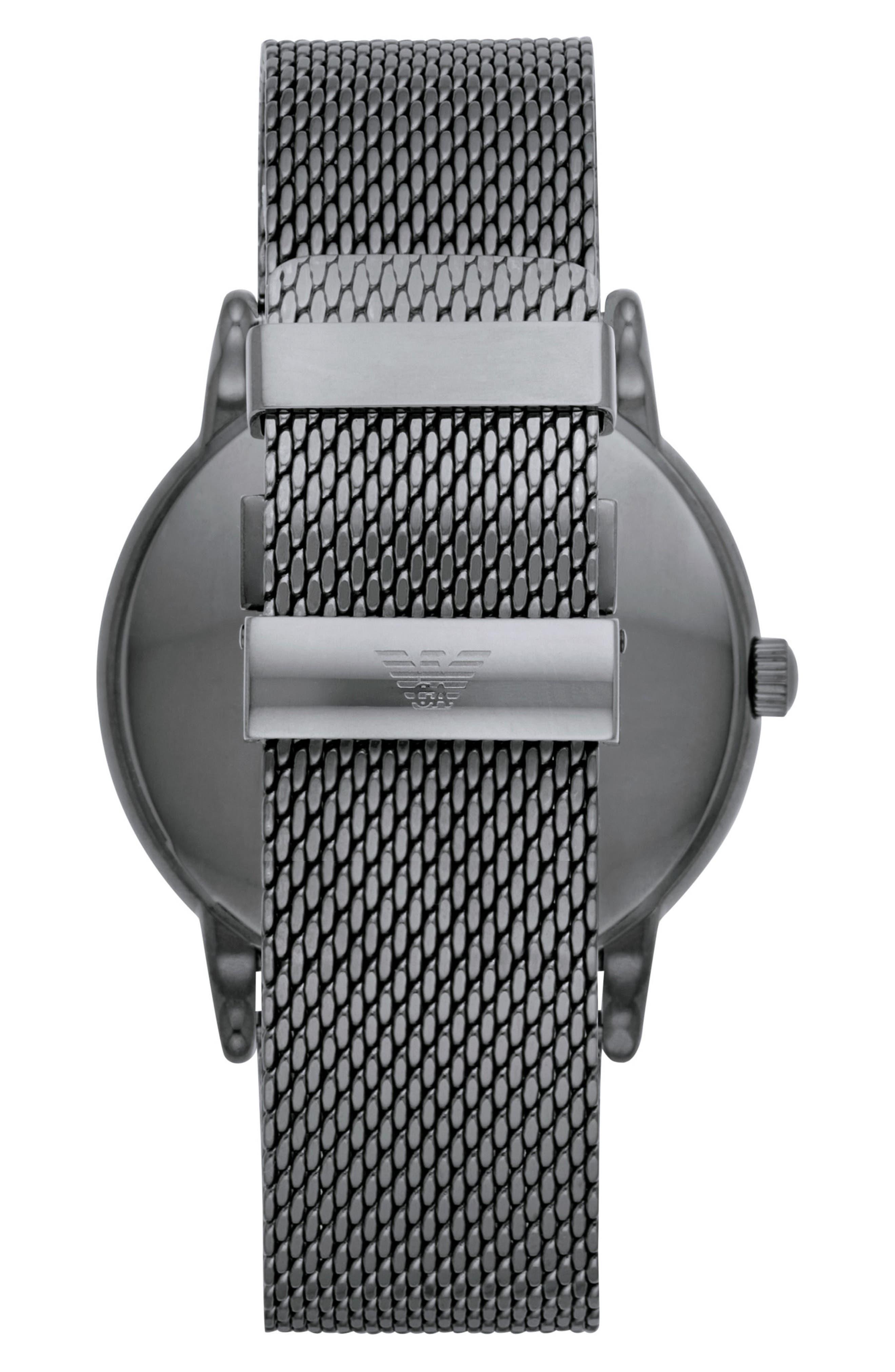 Alternate Image 2  - Emporio Armani Slim Mesh Strap Watch, 43mm