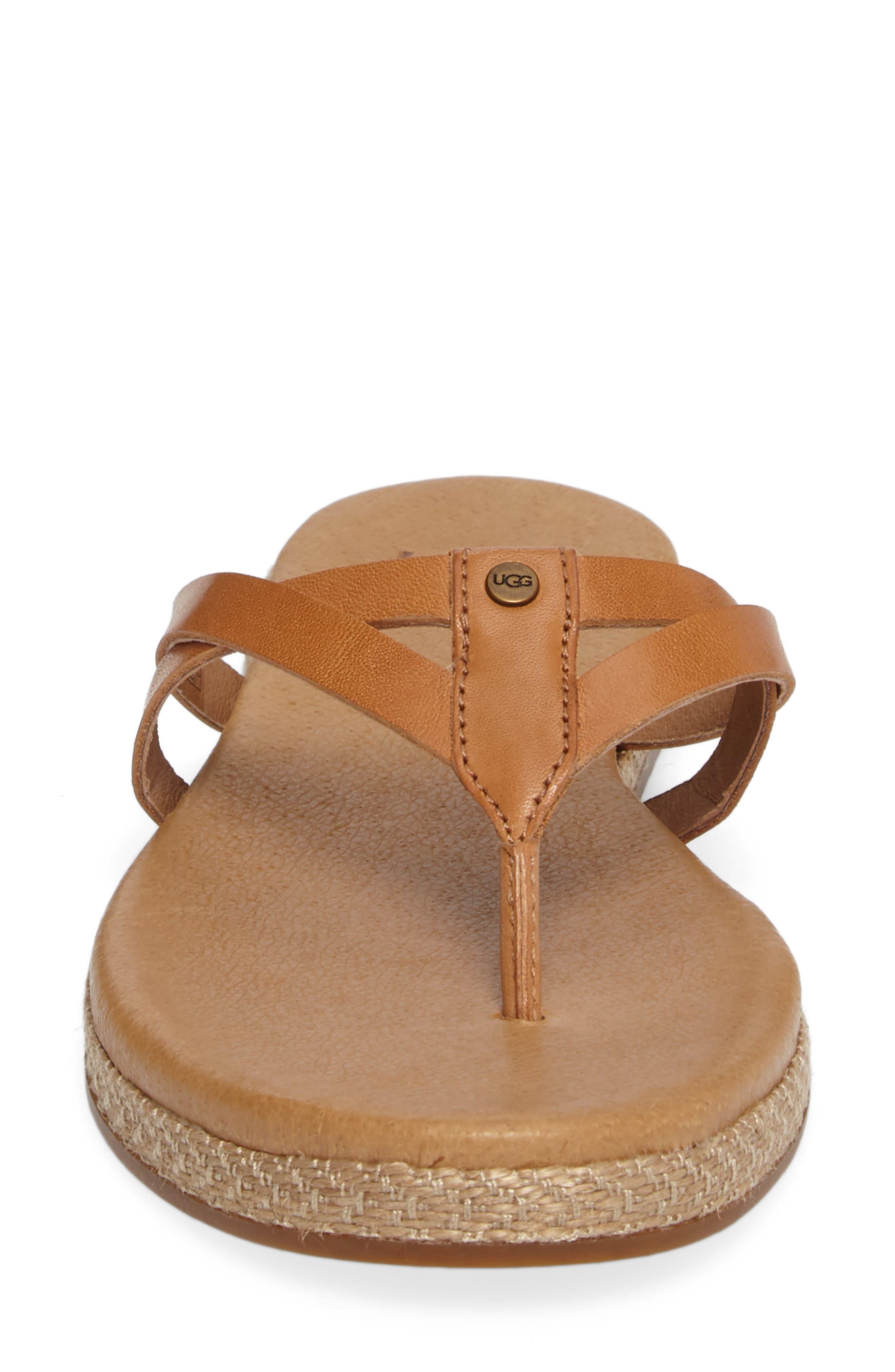 Annice Flip Flop,                             Alternate thumbnail 4, color,                             Cafe Leather