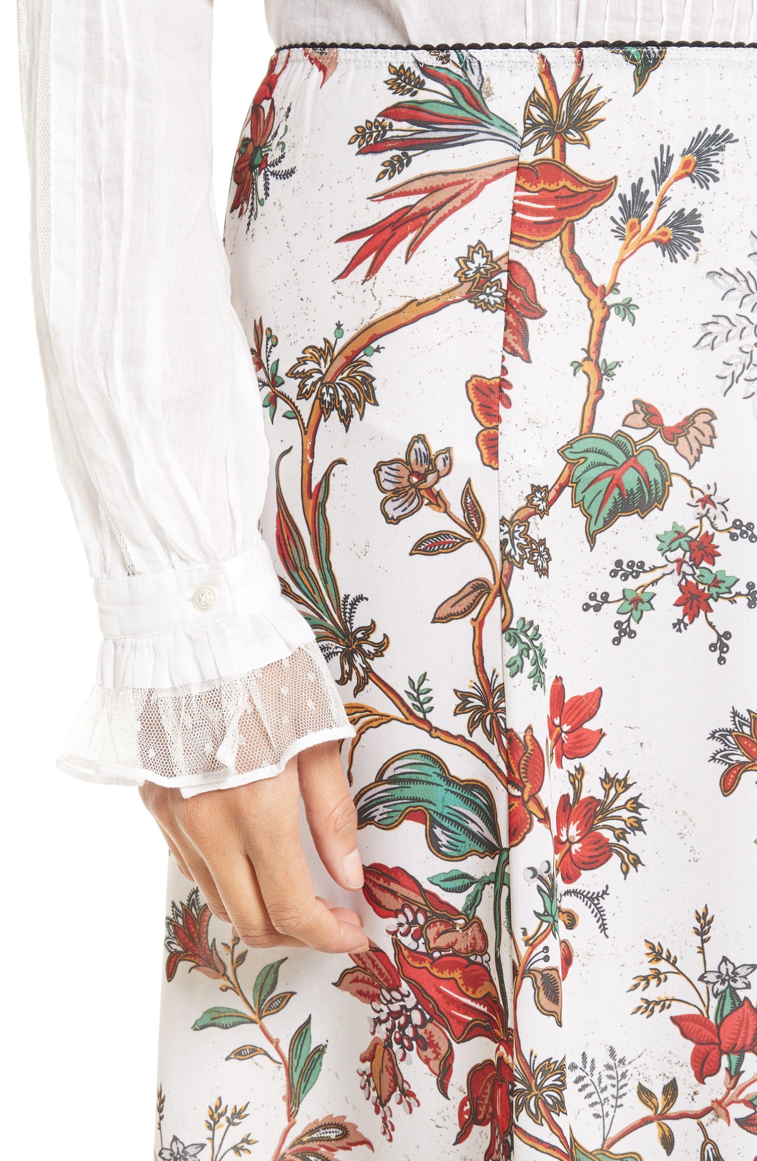 Alternate Image 5  - McQ Alexander McQueen Floral Print Skirt