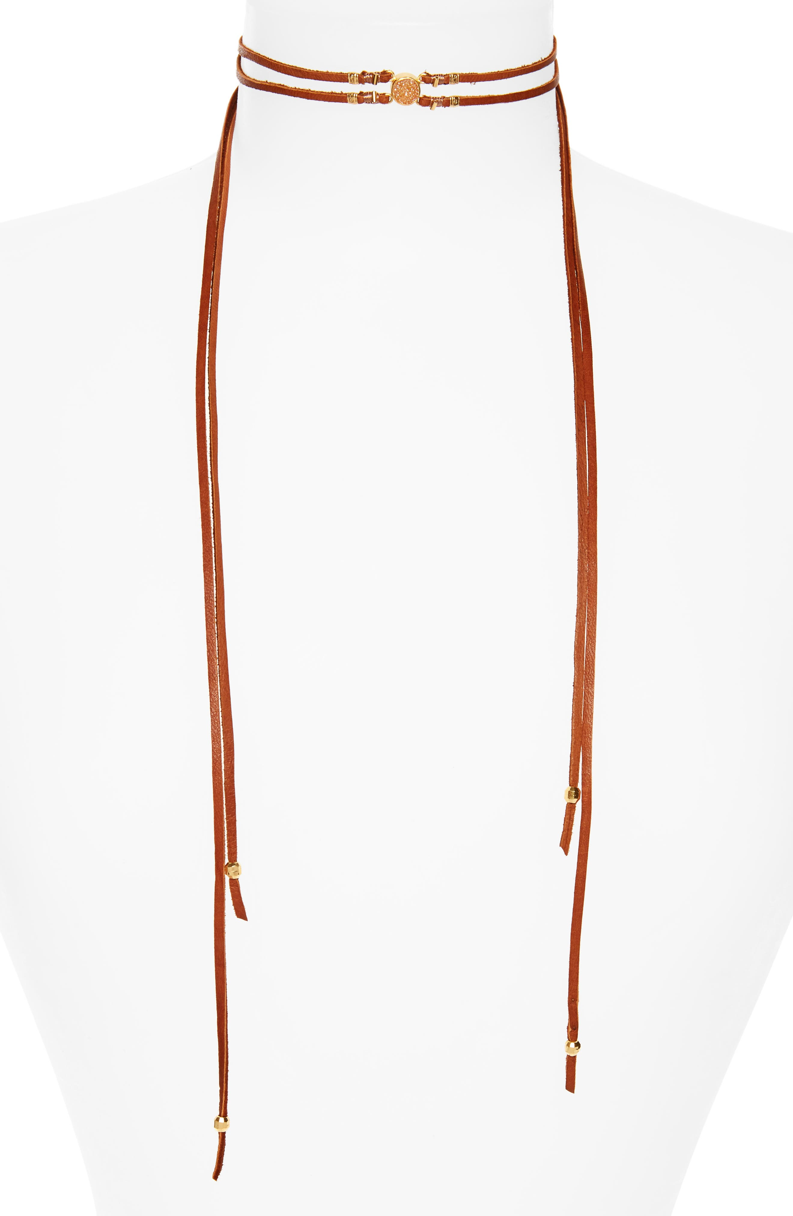 Chan Luu Double Strand Leather Wrap Necklace