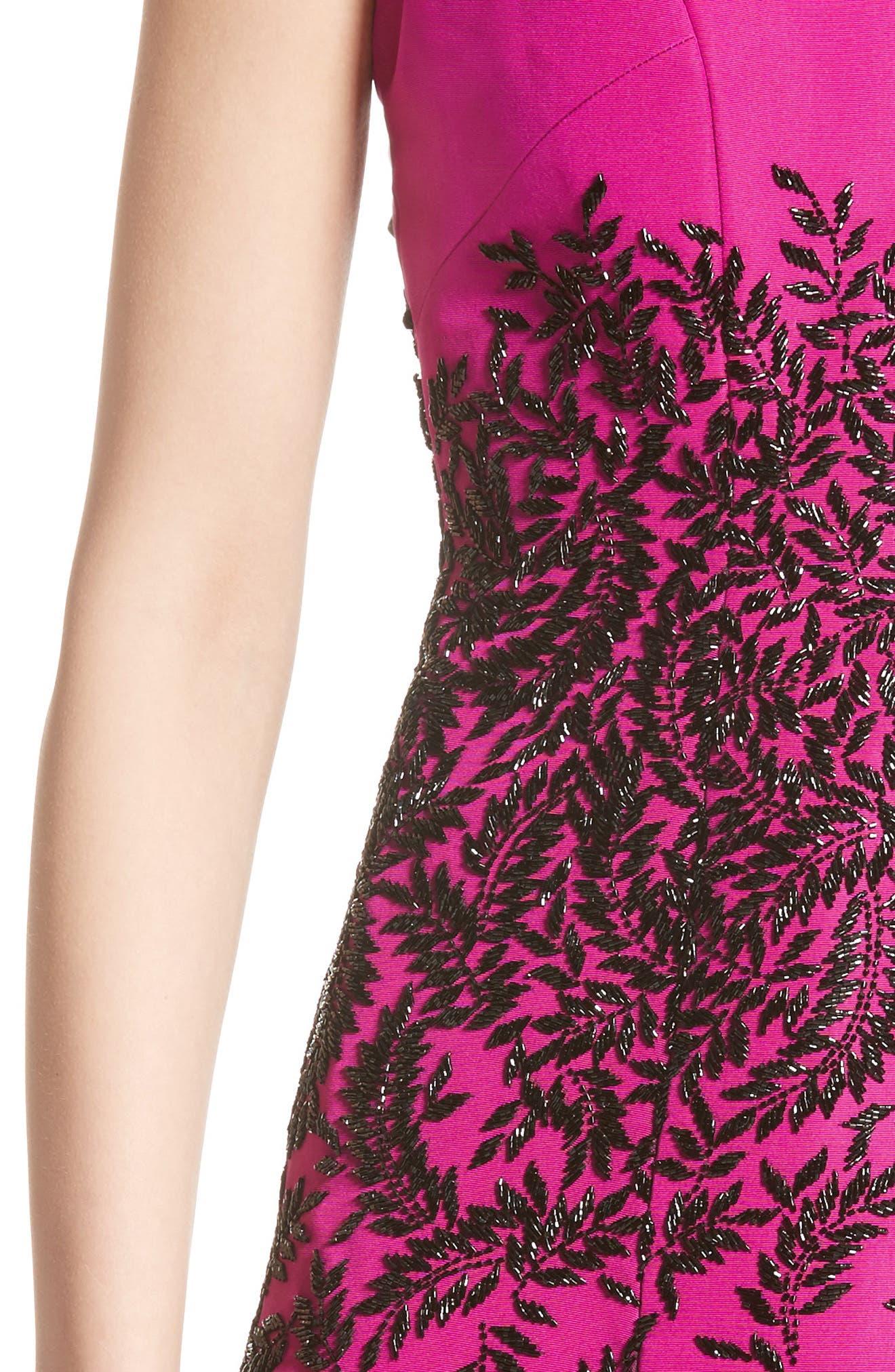 Alternate Image 5  - Carmen Marc Valvo Couture Beaded Fit & Flare Dress