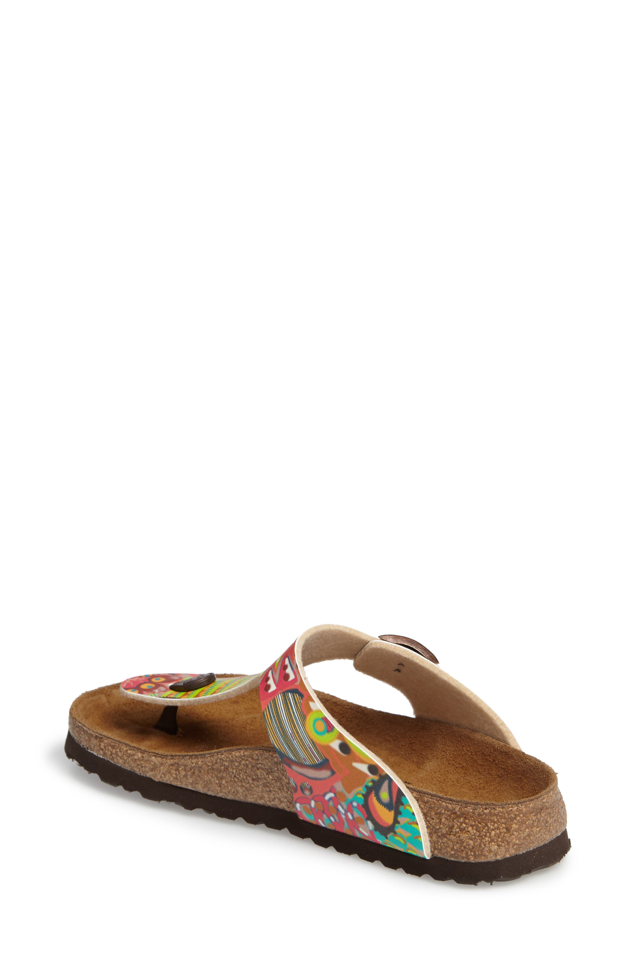 'Gizeh' Sandal,                             Alternate thumbnail 2, color,                             Raspberry Multi