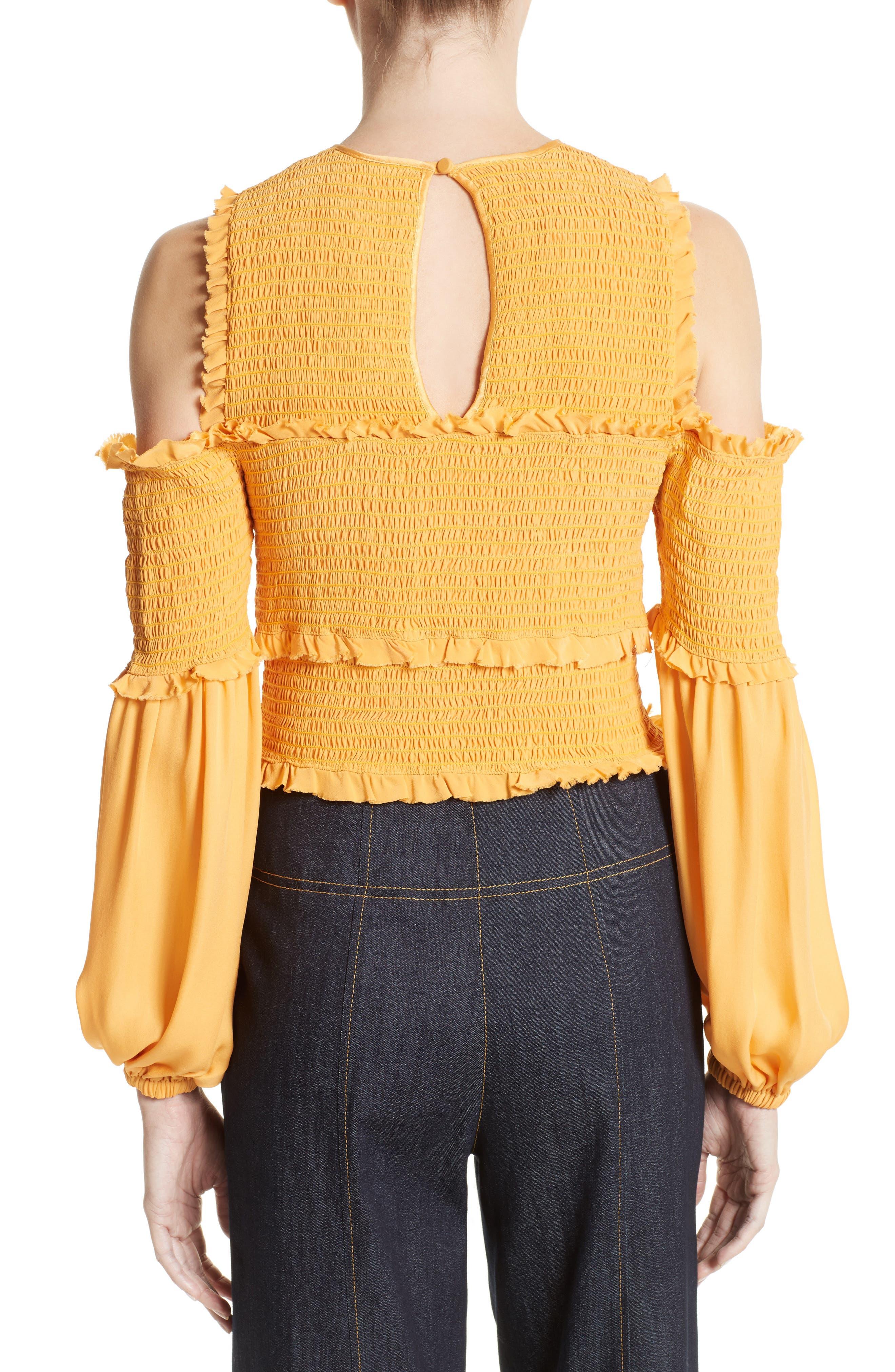 Alternate Image 2  - Cinq à Sept Pascal Silk Cold Shoulder Top