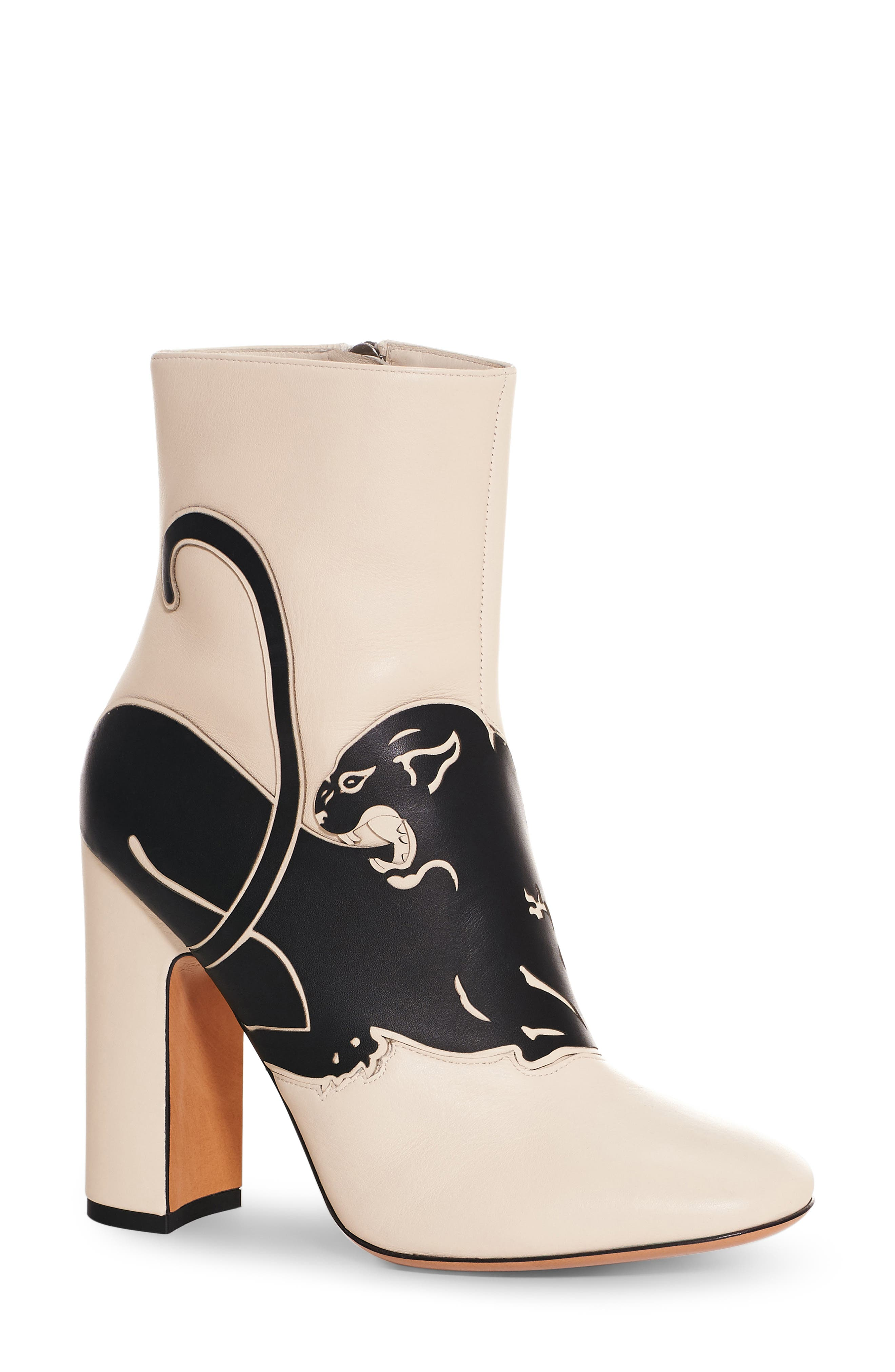 Panther Boot,                             Main thumbnail 1, color,                             Ivory Leather