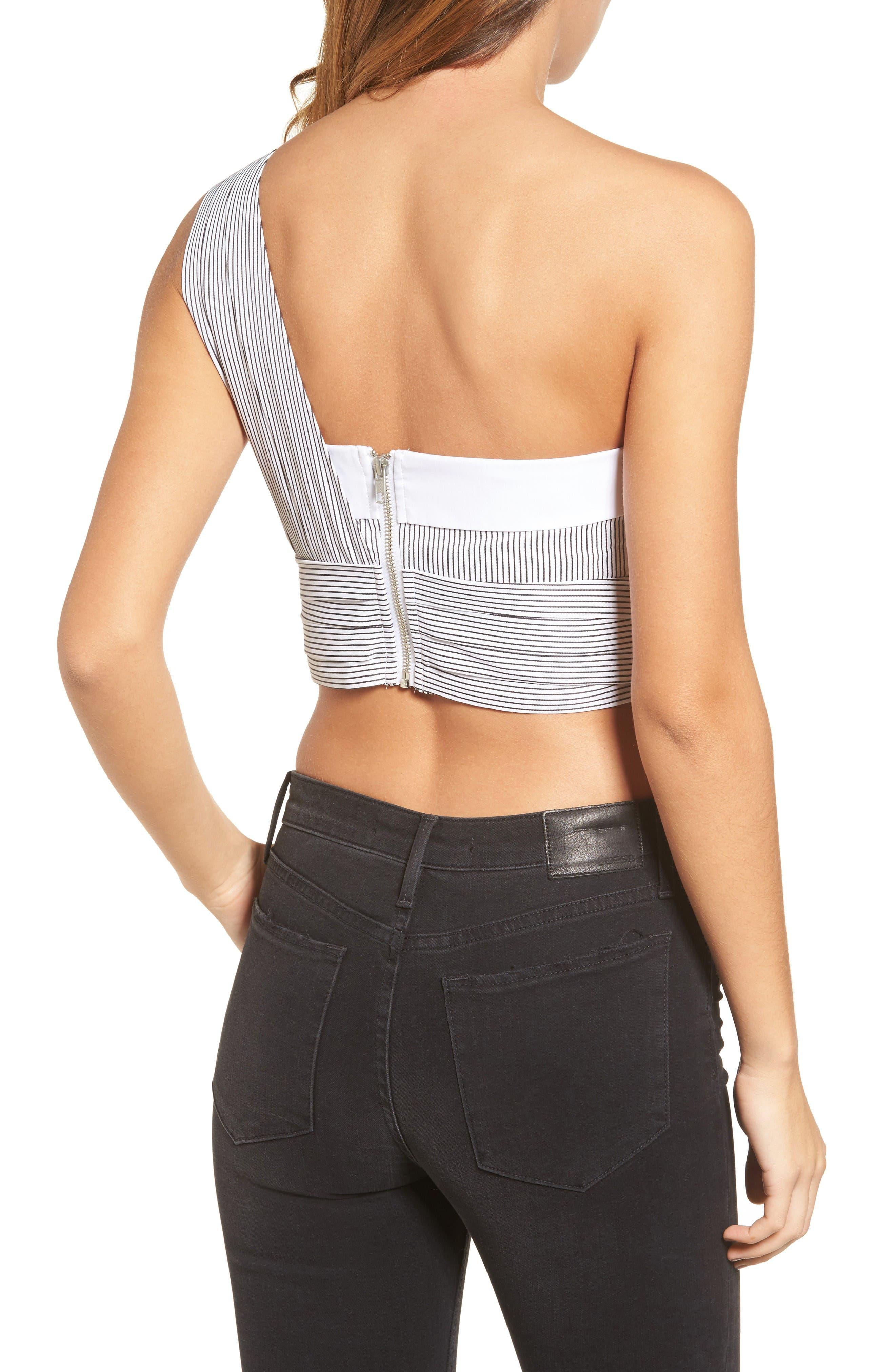 Alternate Image 2  - KENDALL + KYLIE Sleeve Wrap Crop Top