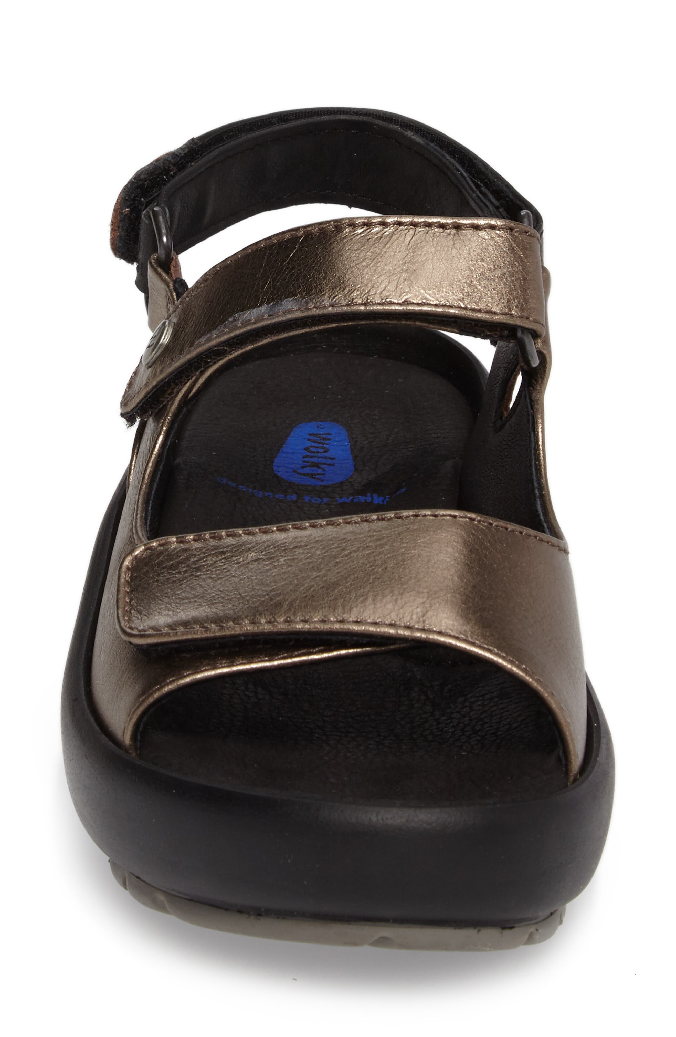 Rio Sandal,                             Alternate thumbnail 4, color,                             Bronze Metallic Leather