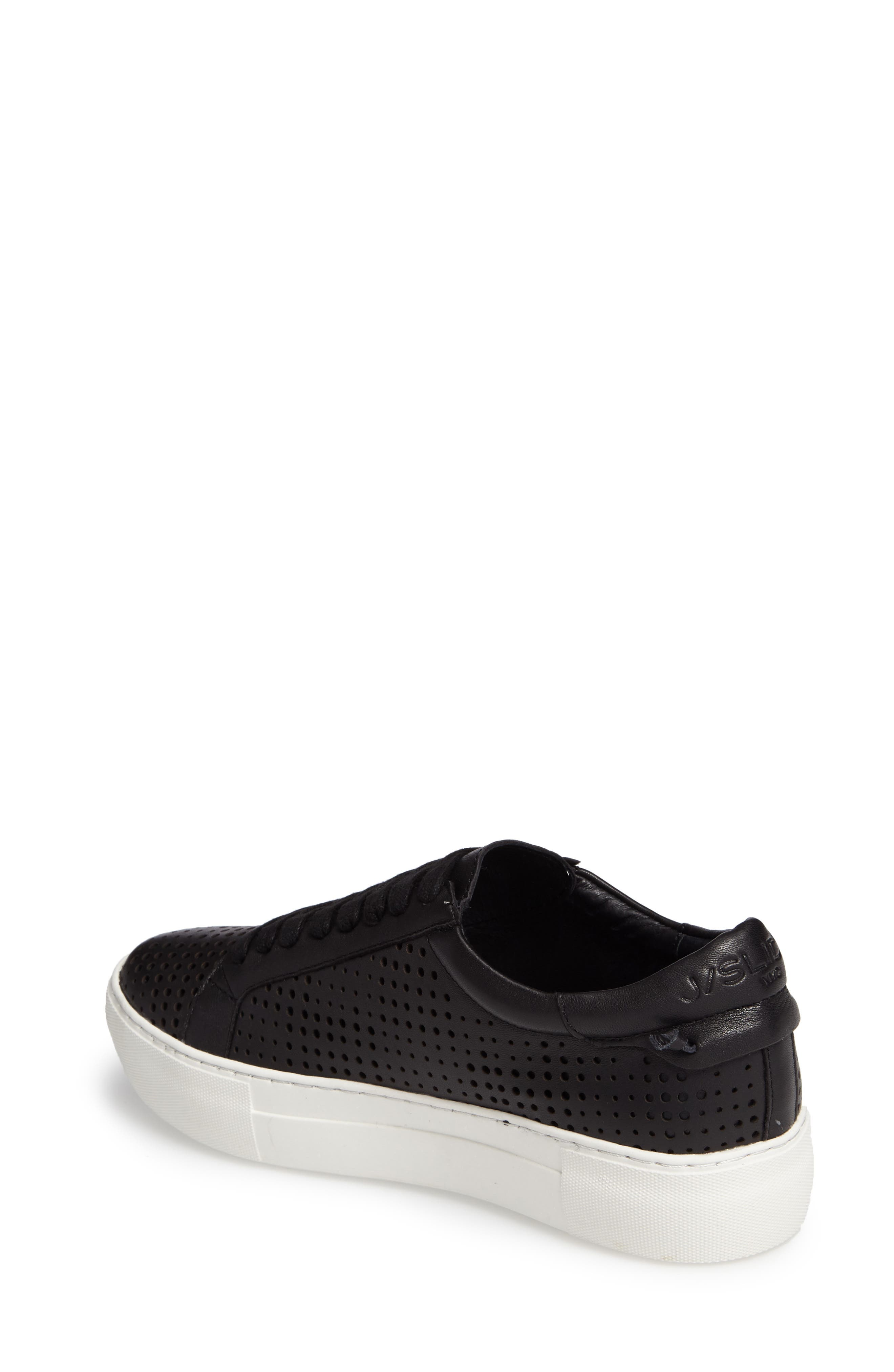 Audrina Platform Sneaker,                             Alternate thumbnail 2, color,                             Black Leather