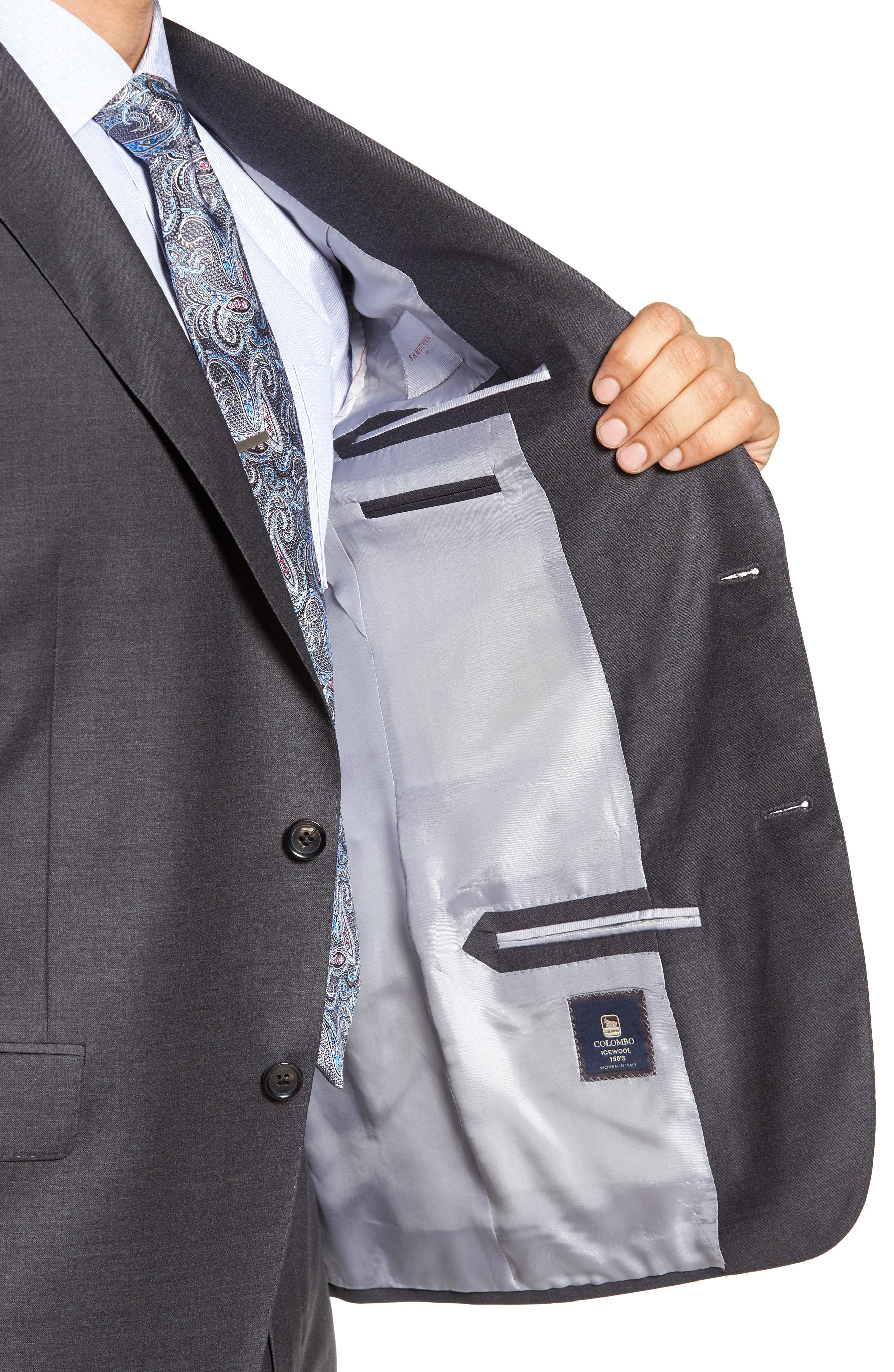Beckett Classic Fit Solid Wool Suit,                             Alternate thumbnail 4, color,                             Mid Grey