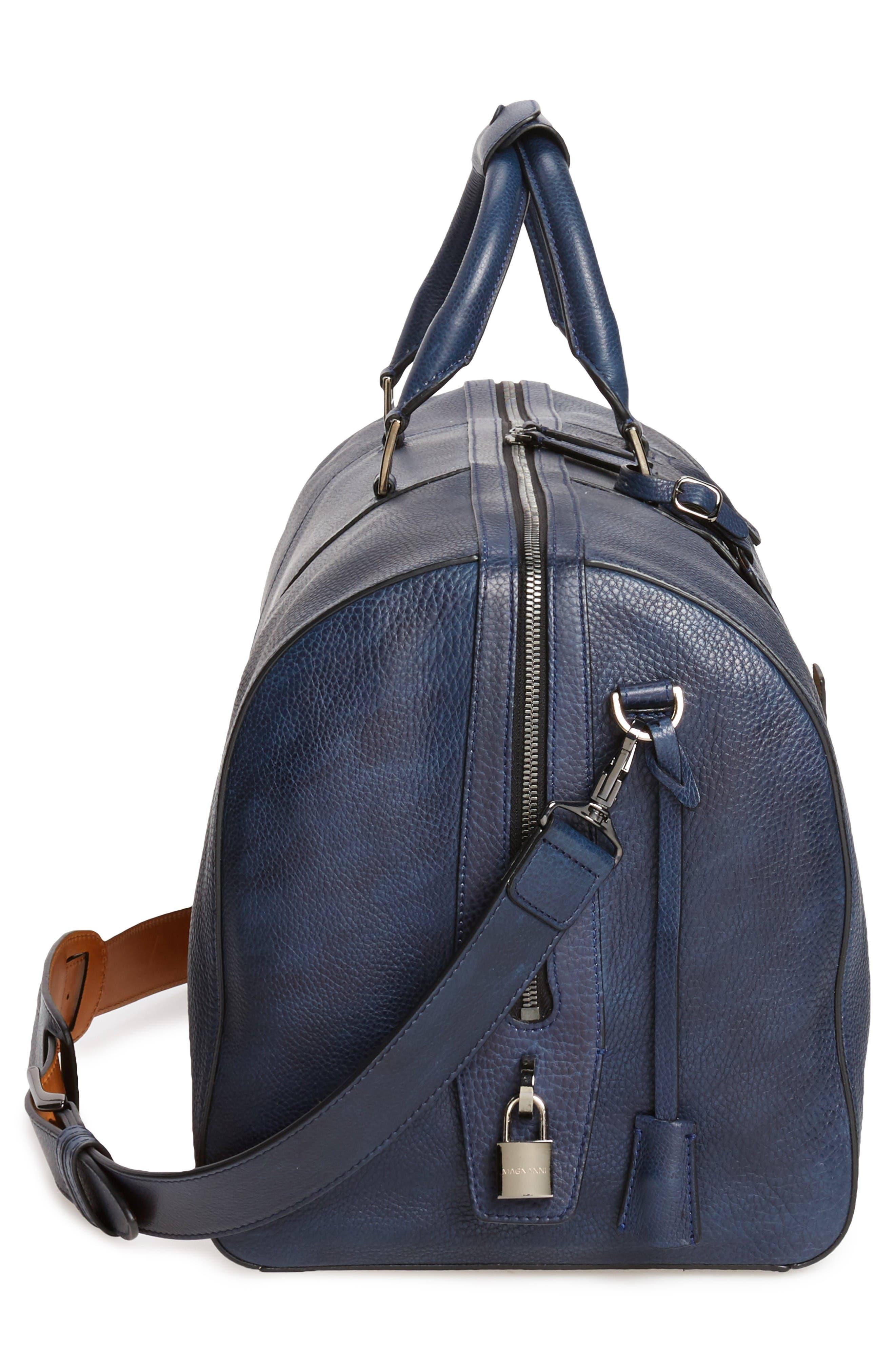 Alternate Image 5  - Magnanni Traveler Leather Duffel Bag