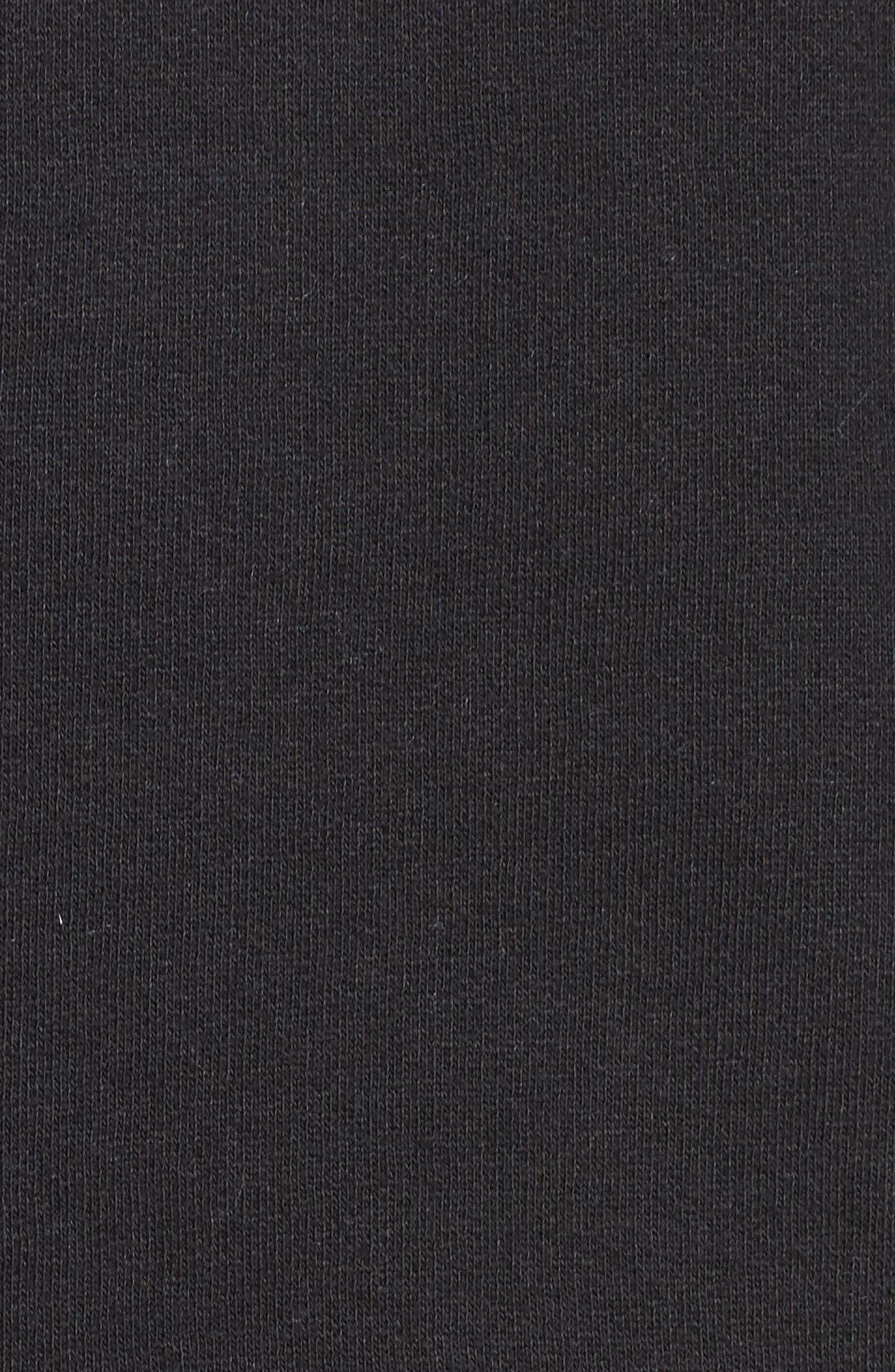 Brunette 'Coffee Now' Crewneck Sweatshirt,                             Alternate thumbnail 5, color,                             Black