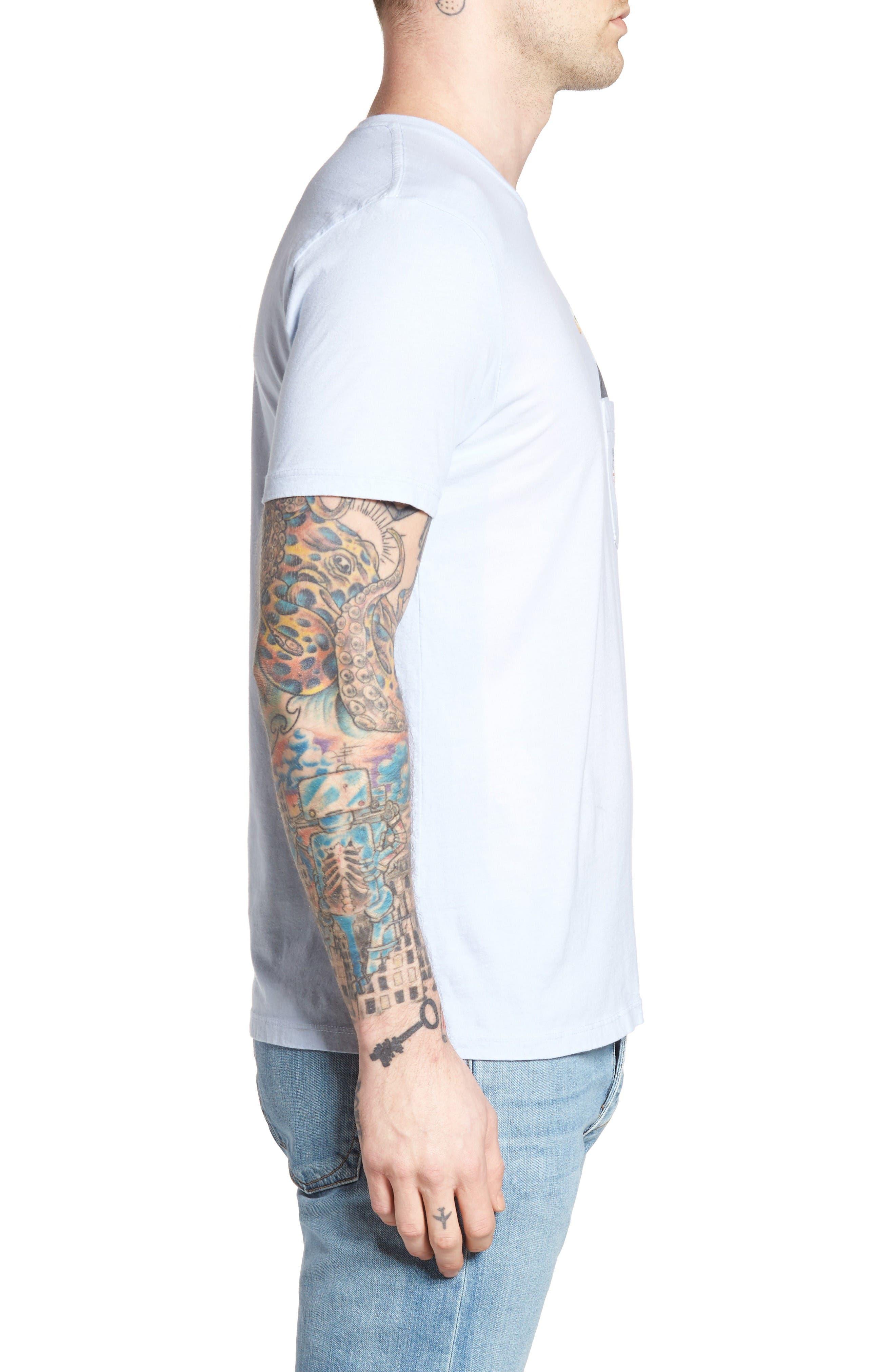 SUP Eagle Pocket T-Shirt,                             Alternate thumbnail 3, color,                             Powder Blue