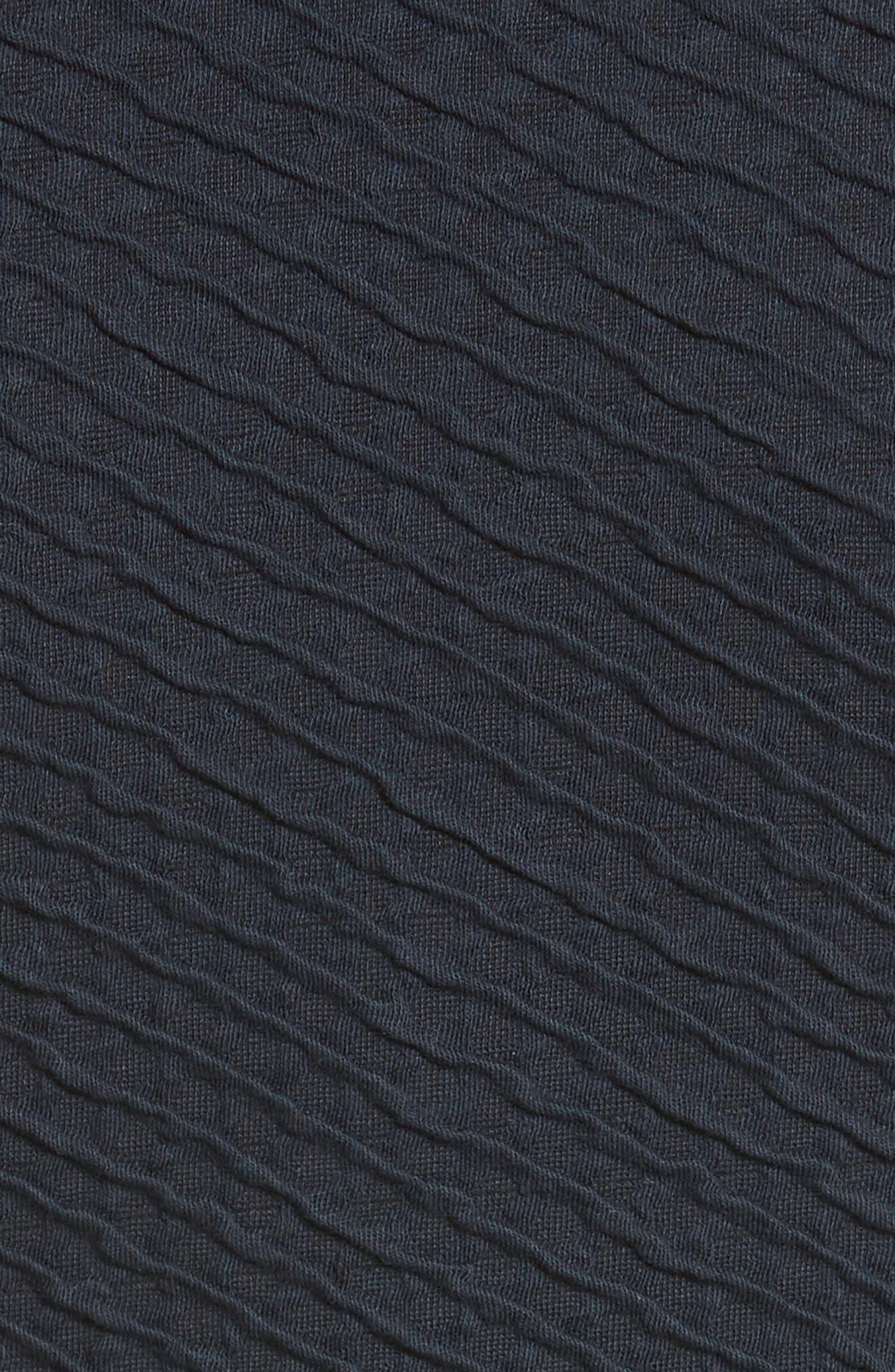 Diagonal Jacquard Peplum Jacket,                             Alternate thumbnail 3, color,                             Navy
