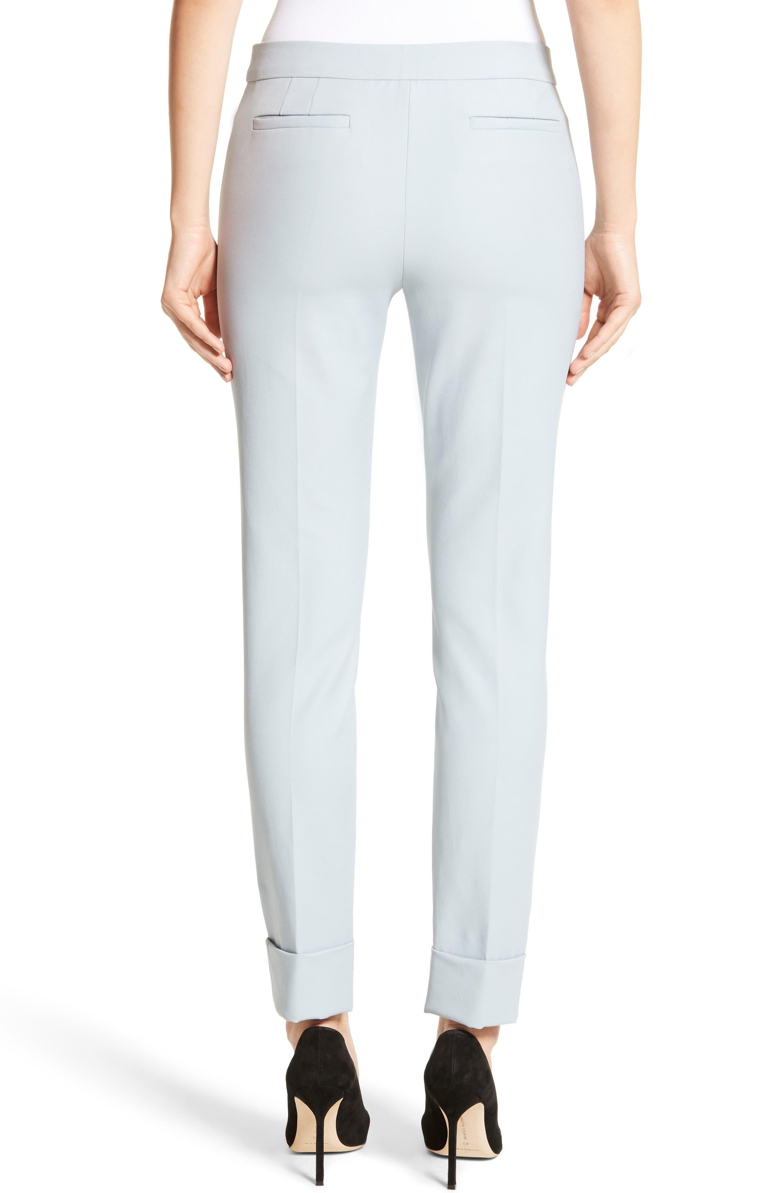 Armani Collezion Tech Cotton Cuff Pants,                             Alternate thumbnail 2, color,                             Cloud