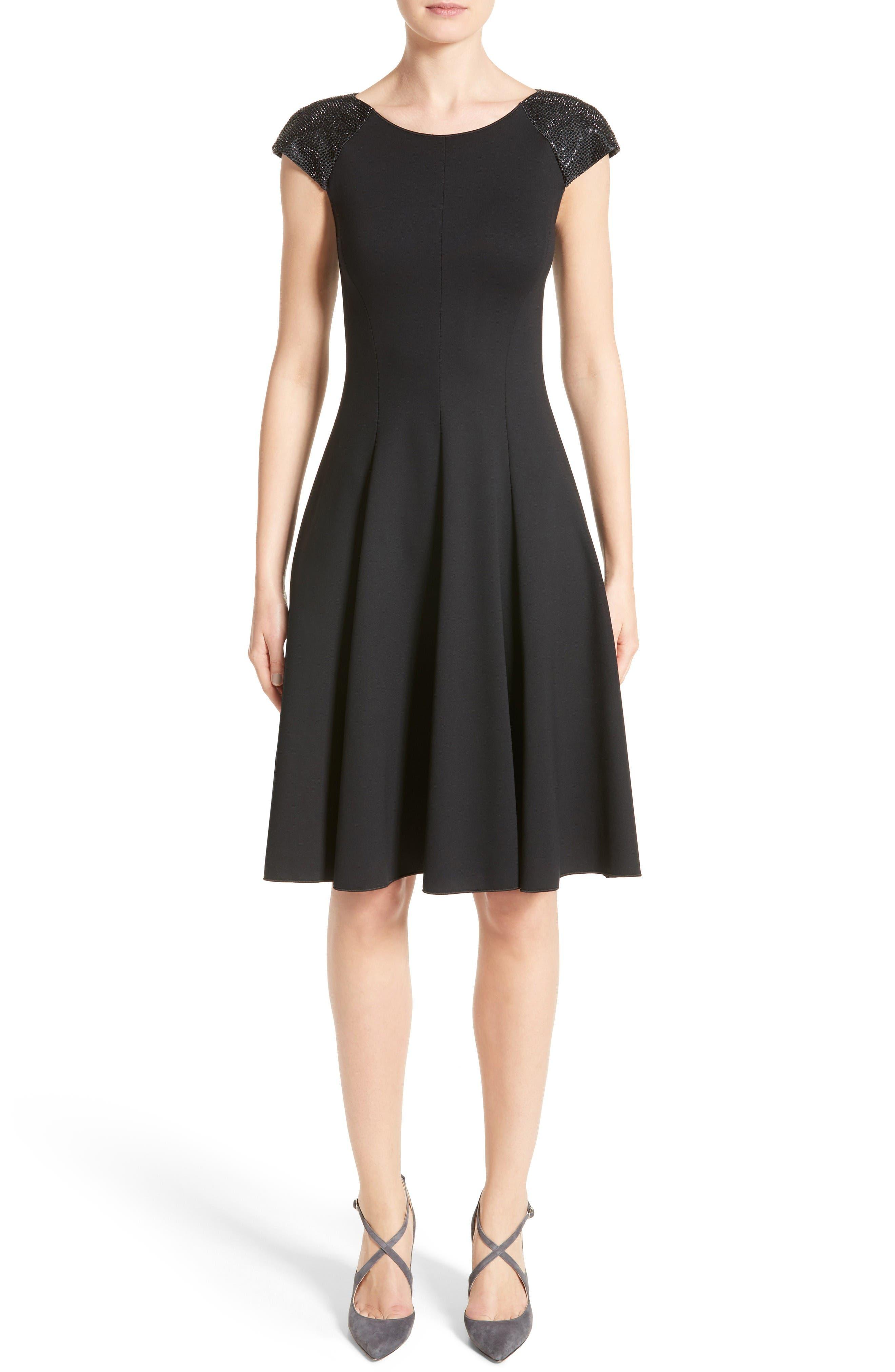 Armani Collezioni Embellished Milano Jersey Dress