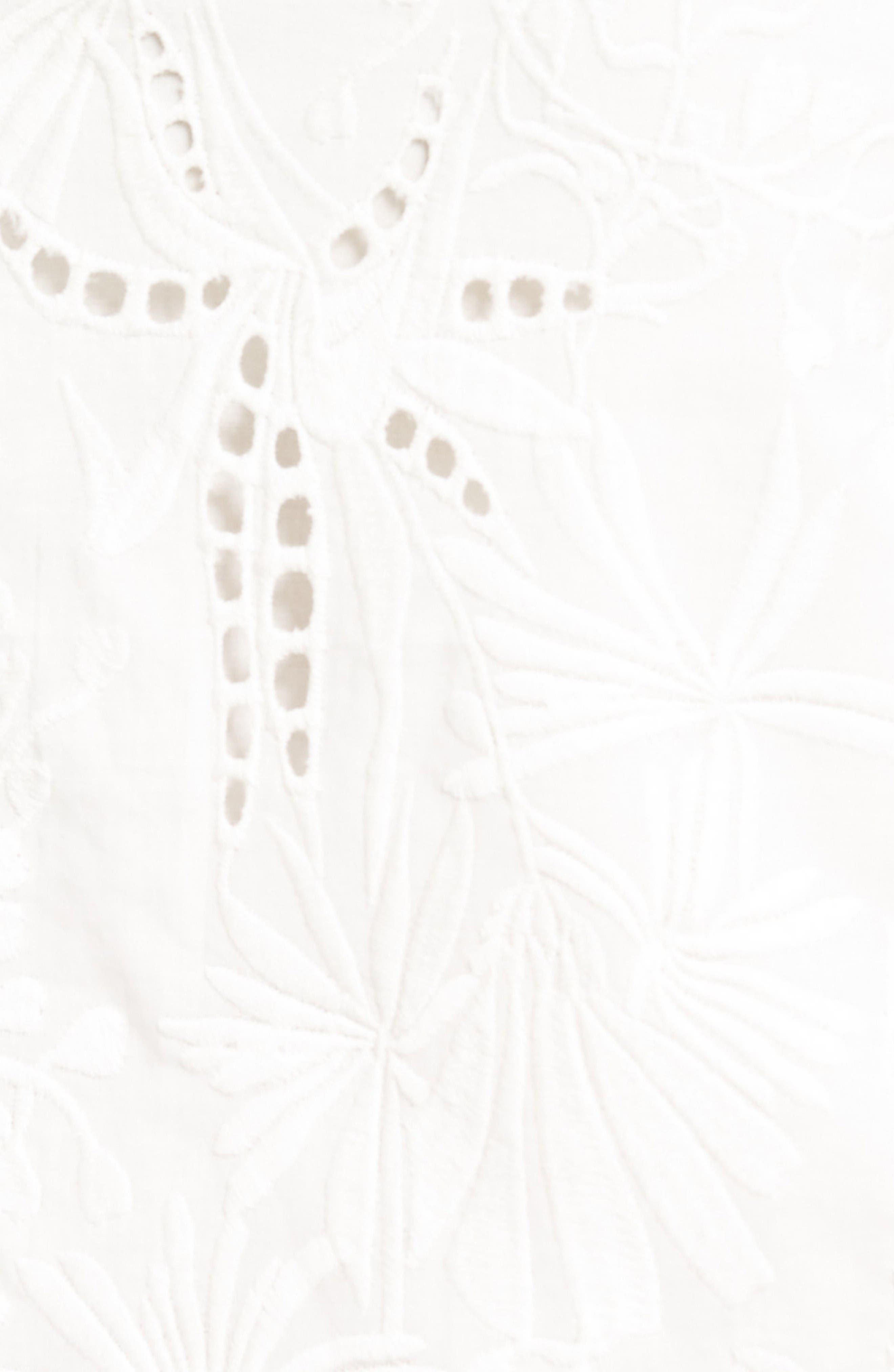 Alternate Image 5  - cooper & ella Camila Embroidered Cotton Tank