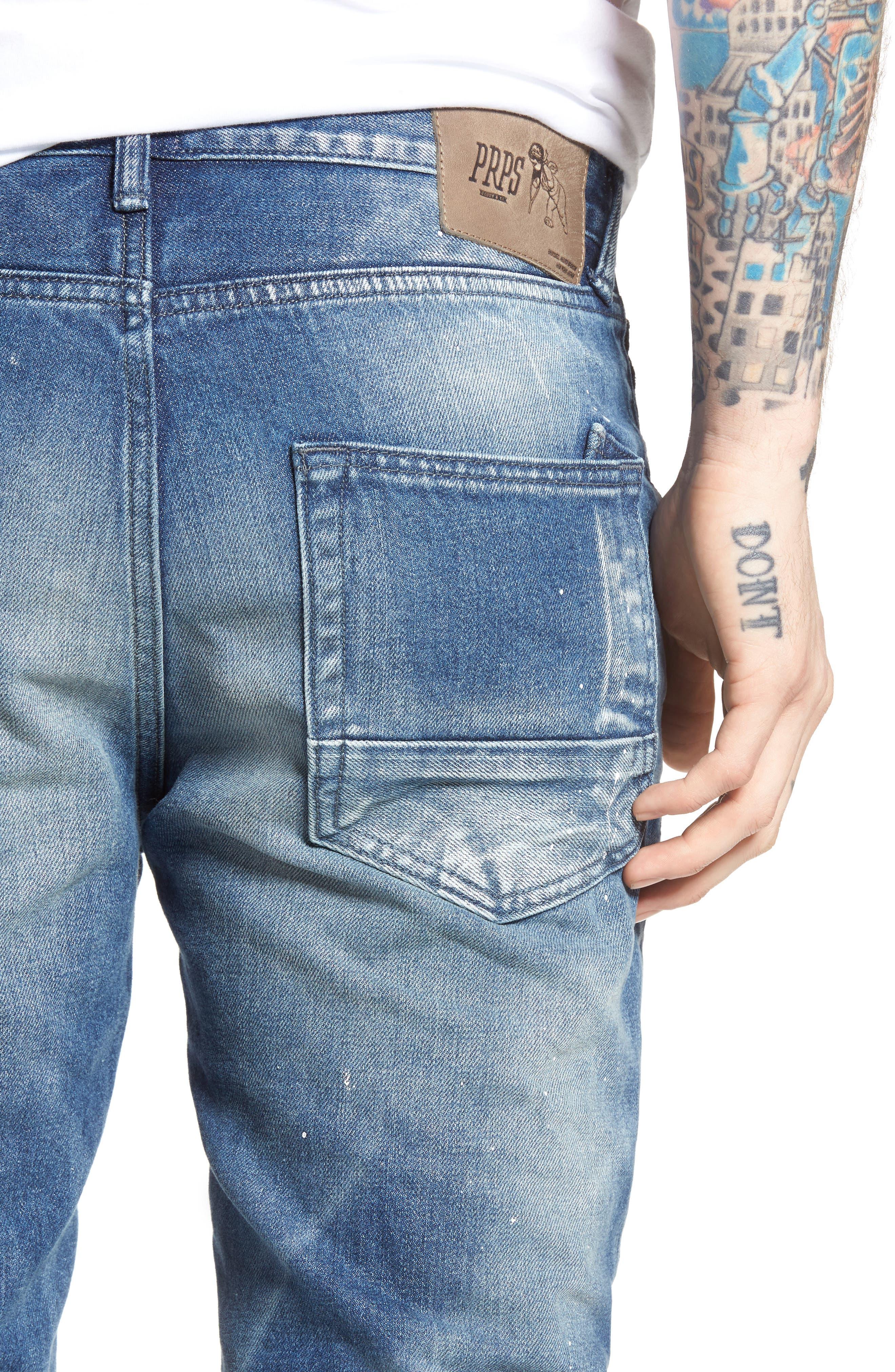 Demon Slim Straight Leg Jeans,                             Alternate thumbnail 4, color,                             Mediam