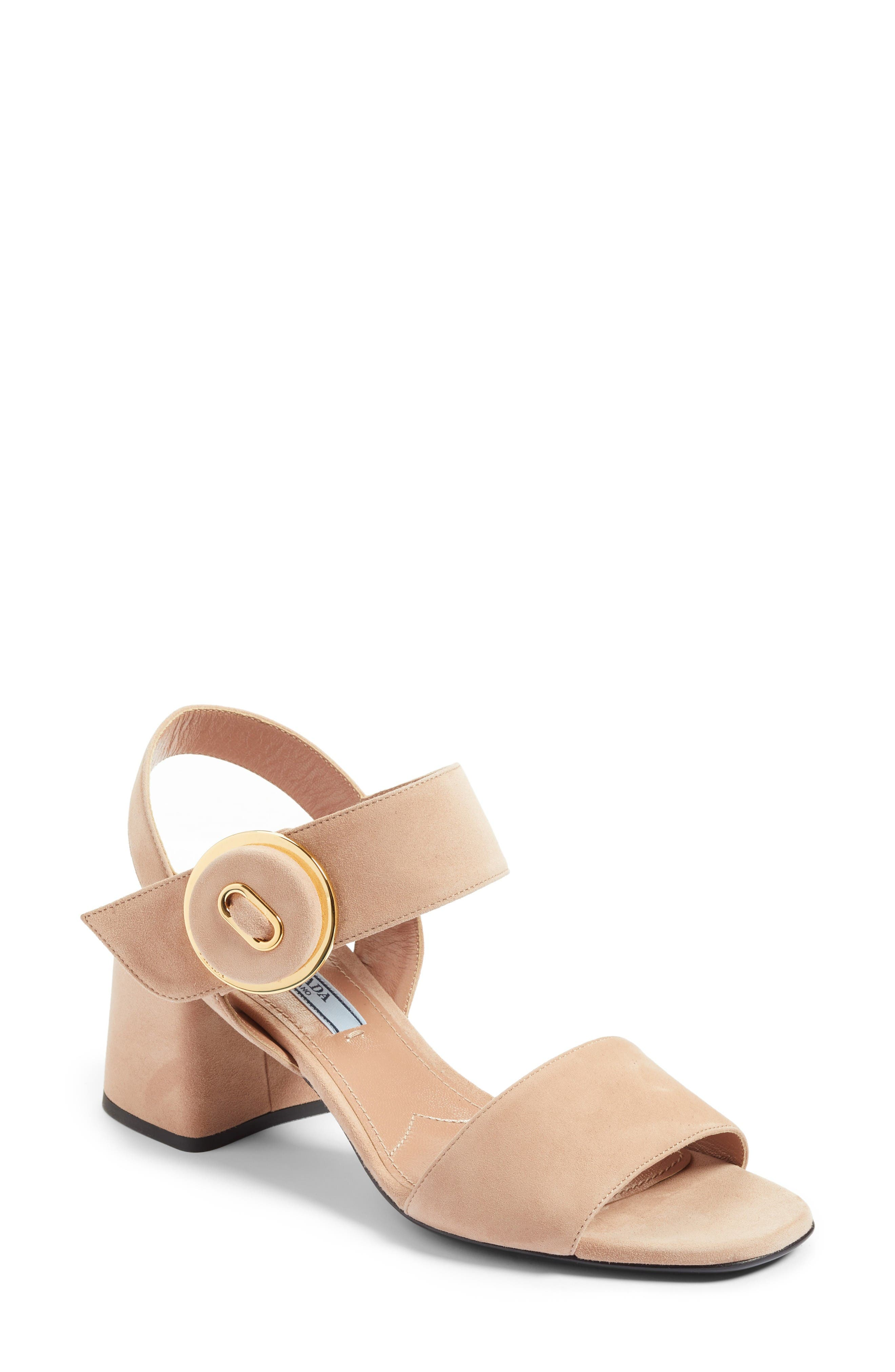 PRADA Button Sandal