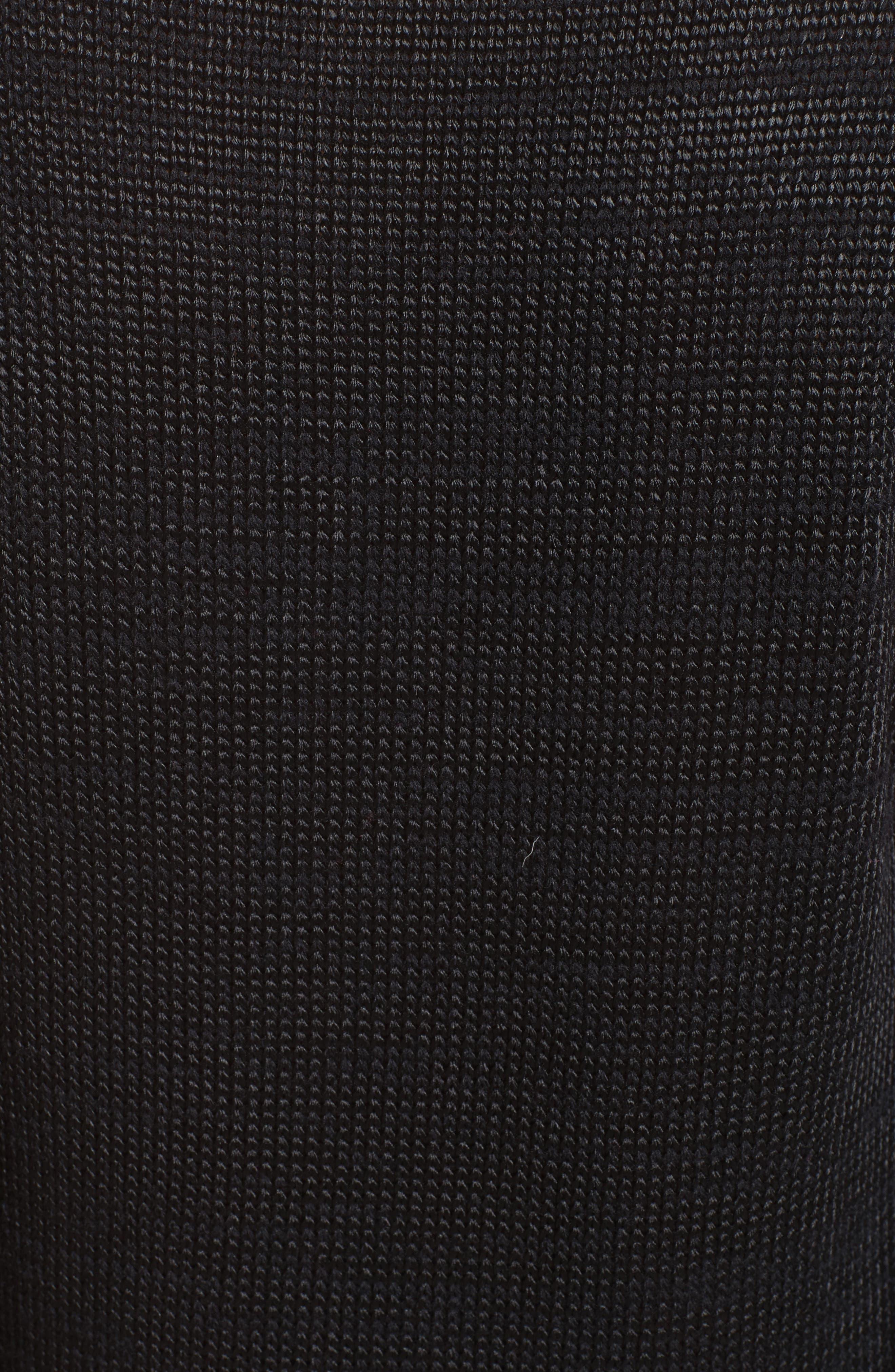 '80s Stripe Knit Sweater,                             Alternate thumbnail 3, color,                             Black Multi