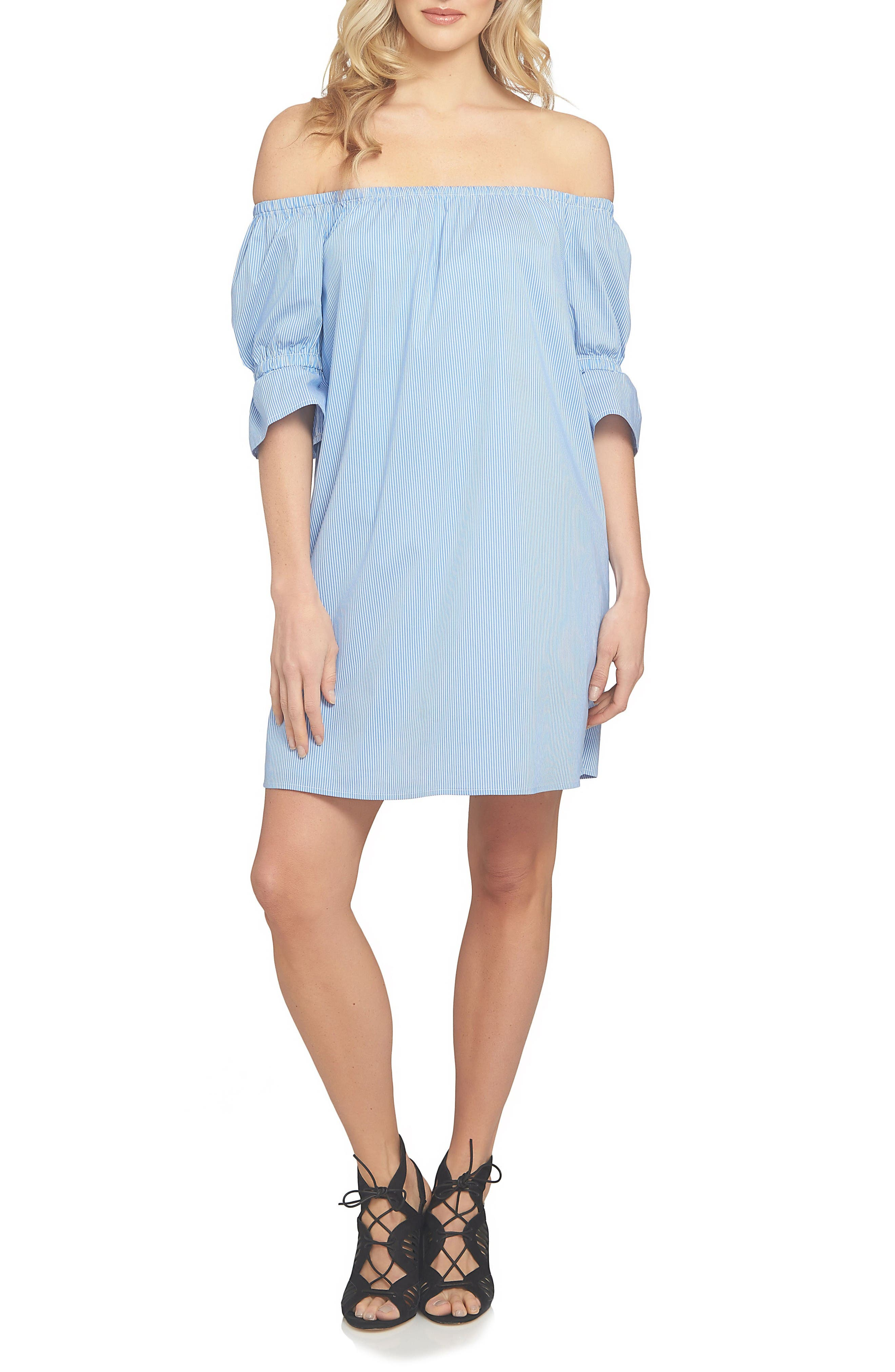 1.STATE Off the Shoulder Shirtdress