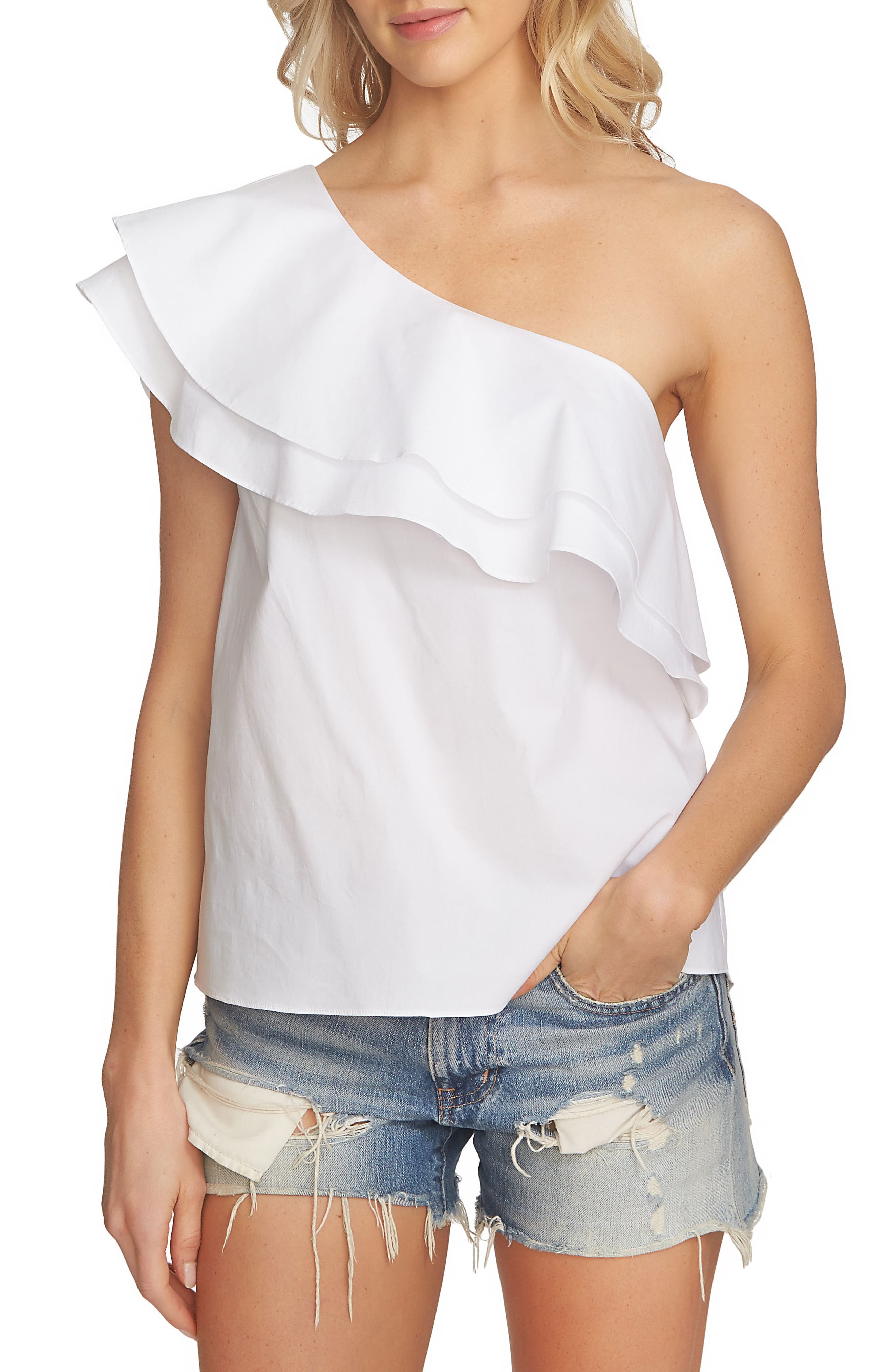 Main Image - 1.STATE One-Shoulder Tank