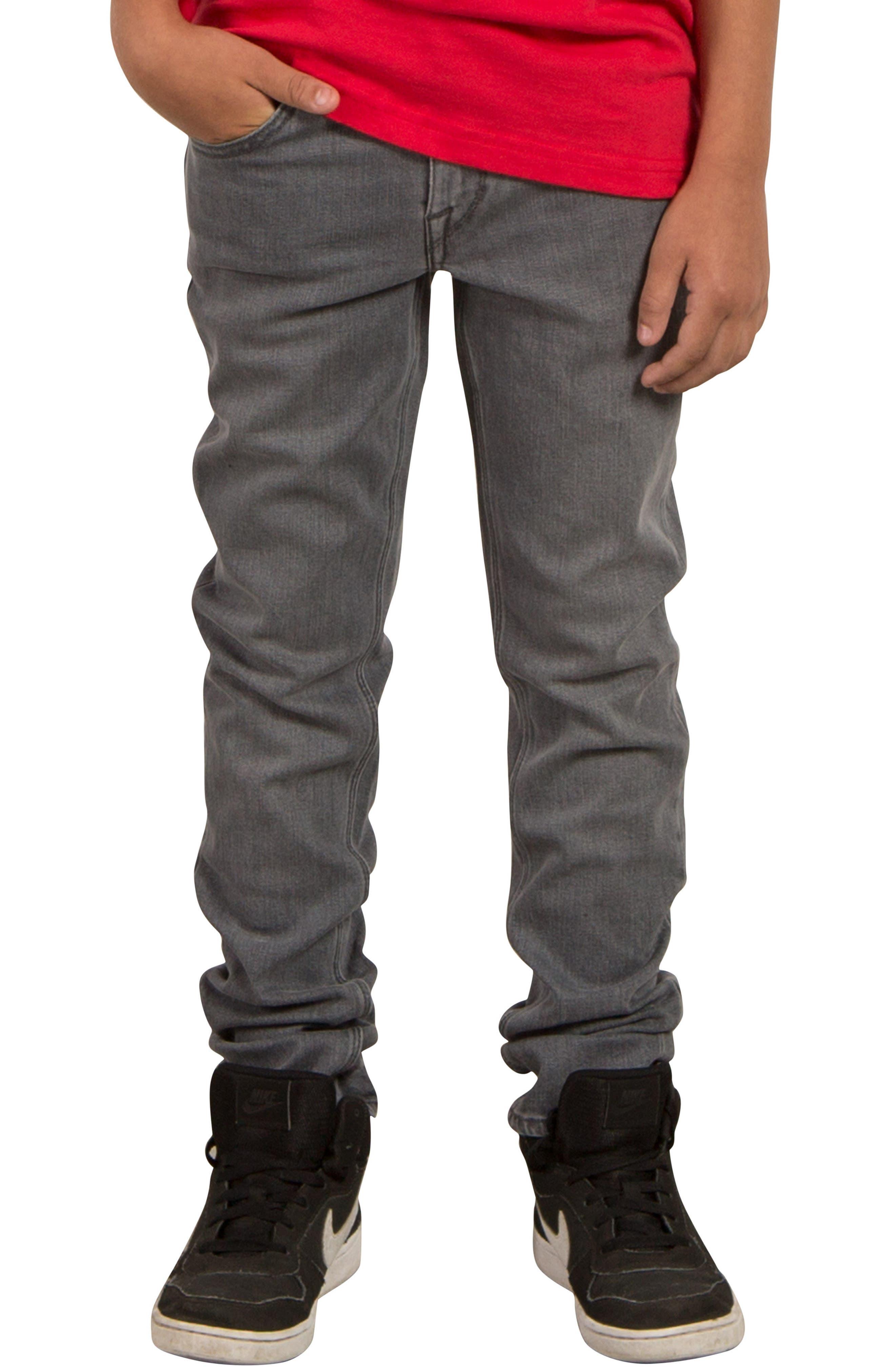 'Solver' Straight Leg Denim Jeans,                             Main thumbnail 1, color,                             Power Grey