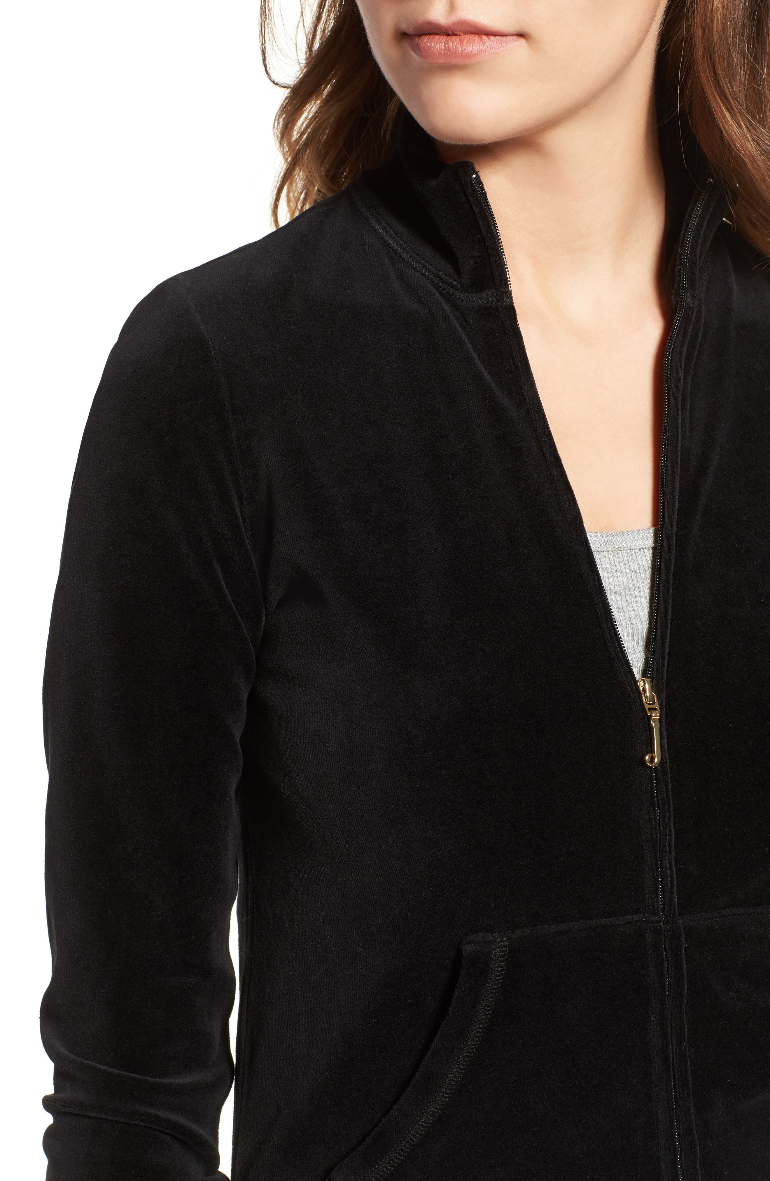 Alternate Image 4  - Juicy Couture Fairfax Velour Track Jacket