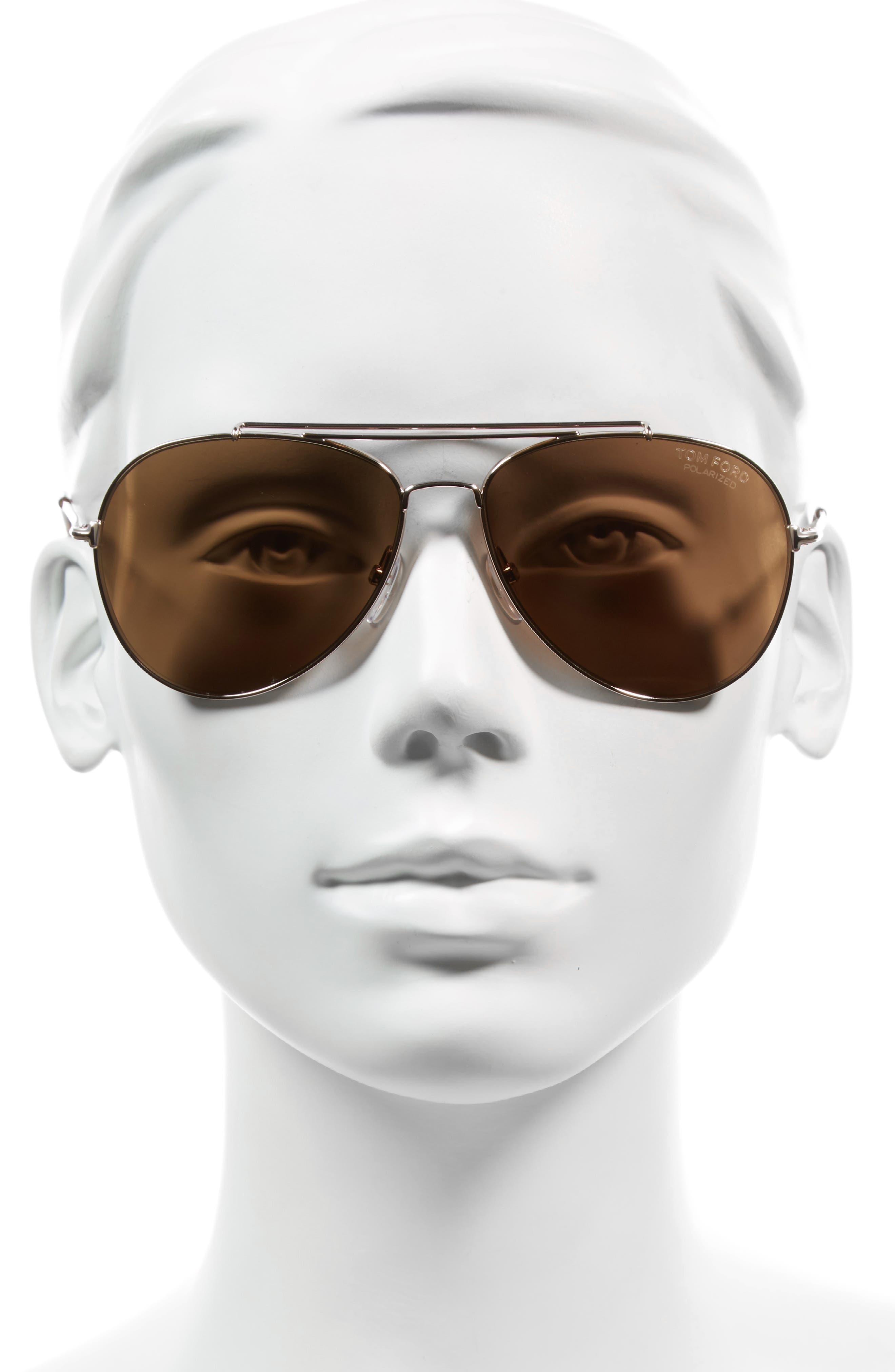 Alternate Image 2  - Tom Ford Indiana 58mm Polarized Aviator Sunglasses