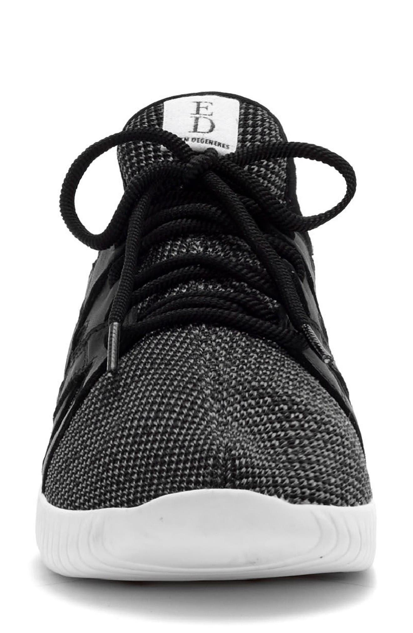 Havala Sneaker,                             Alternate thumbnail 3, color,                             Black/ Grey Fabric