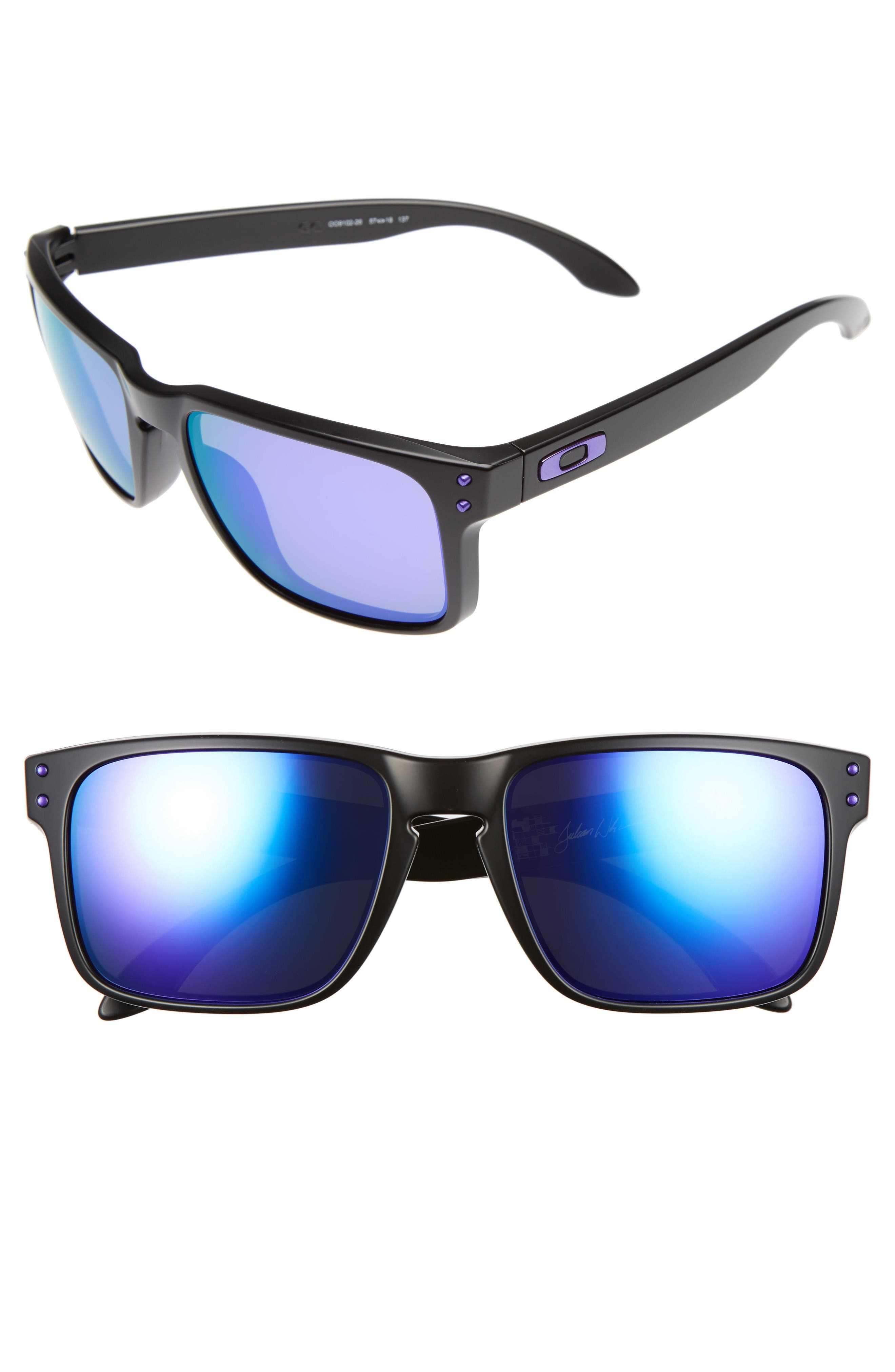 Julian Wilson Signature Series Holbrook 57mm Sunglasses,                         Main,                         color, Matte Black/ Violet Iridium