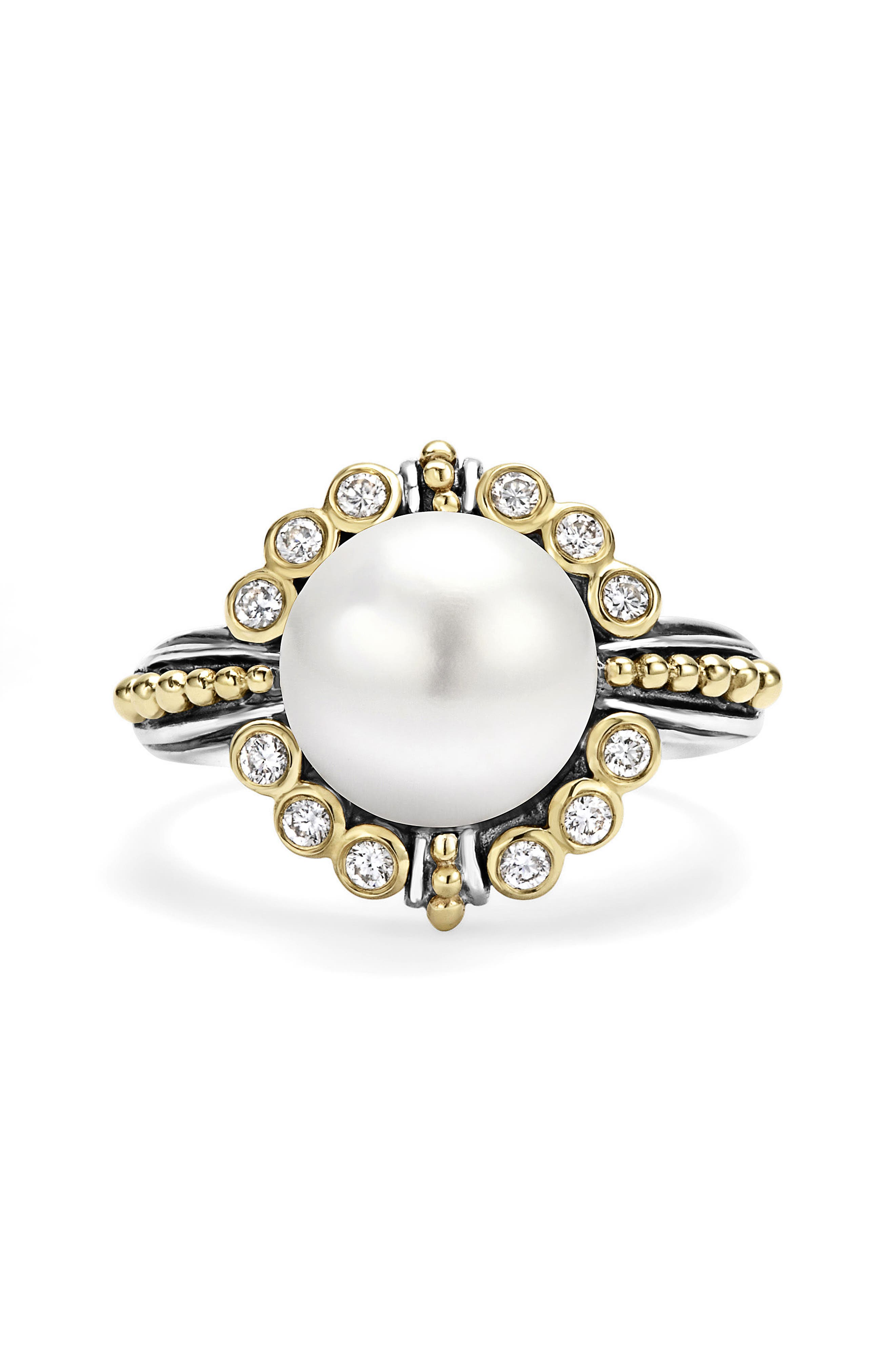 Alternate Image 3  - LAGOS Luna Diamond & Pearl Ring