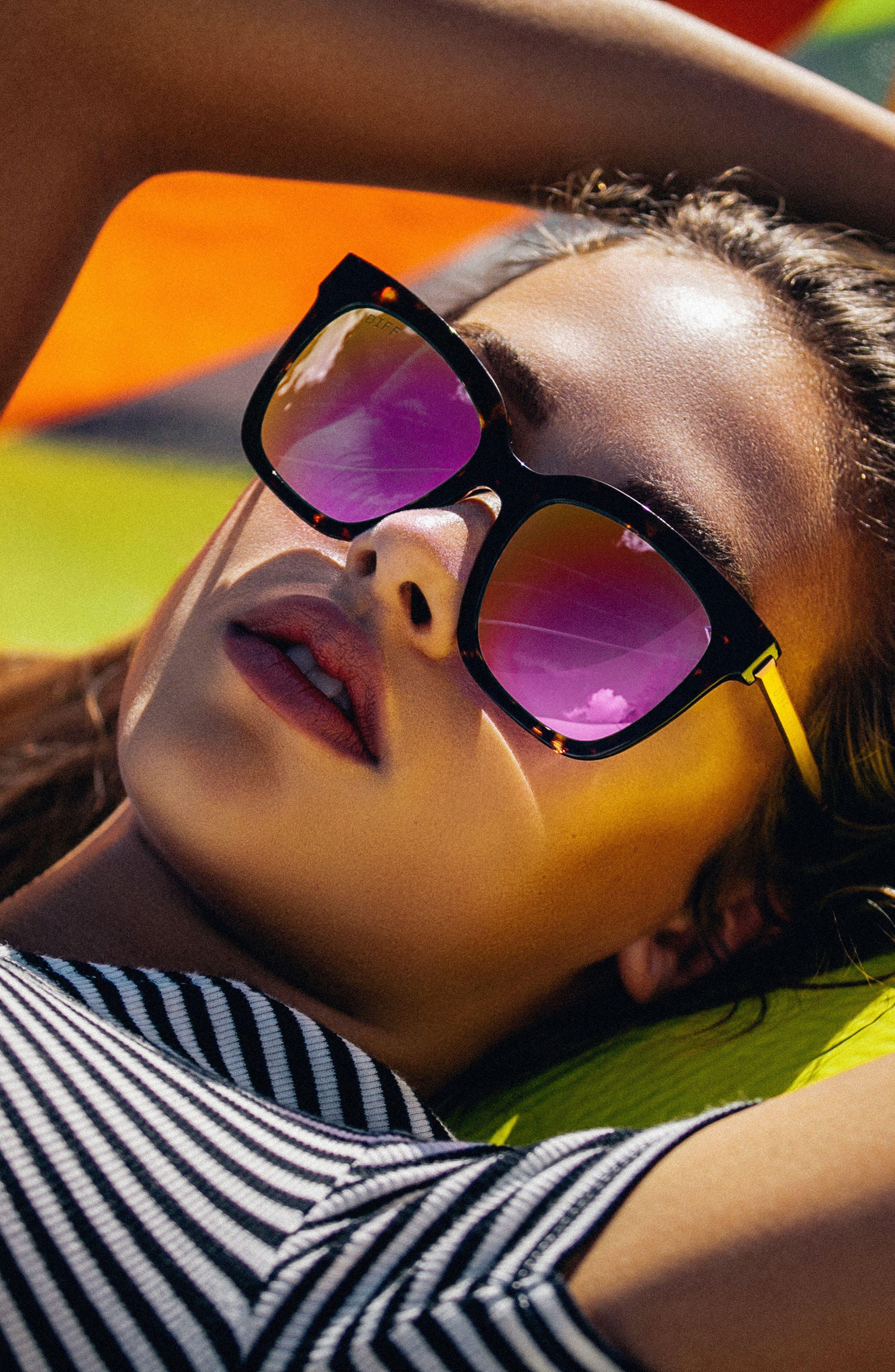 Alternate Image 2  - DIFF Bella 52mm Polarized Sunglasses