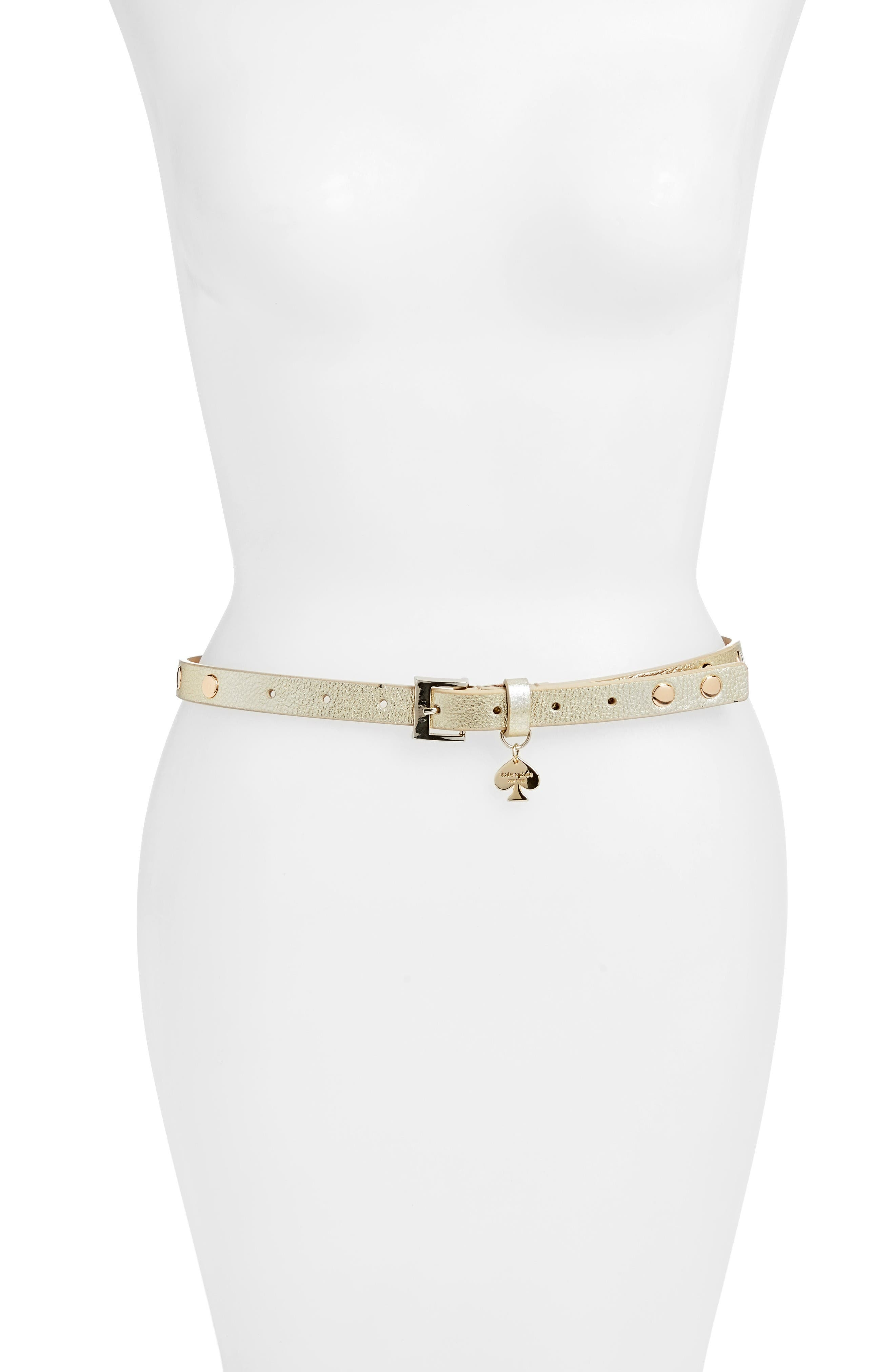 KATE SPADE NEW YORK studded leather belt